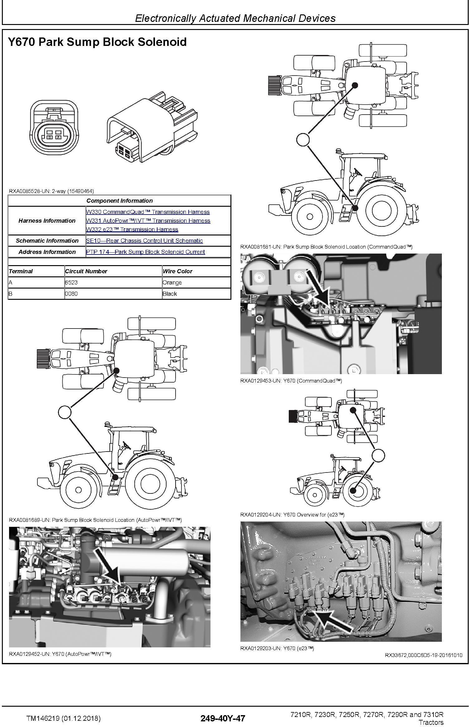John Deere 7210R, 7230R, 7250R, 7270R, 7290R, 7310R Tractors Diagnostic Technical Manual (TM146219) - 1