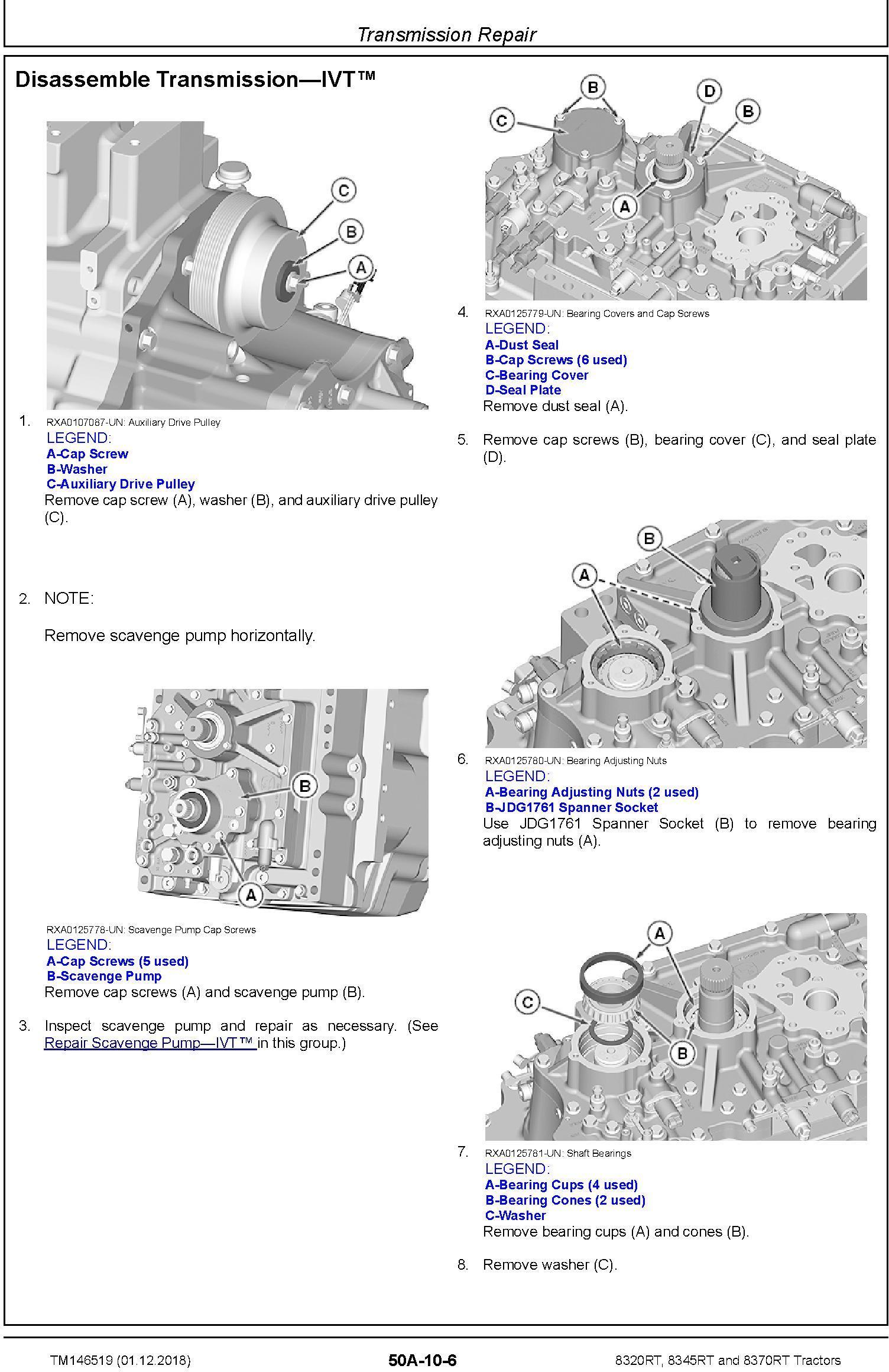 John Deere 8320RT, 8345RT and 8370RT Tractors (SN. 917000-) Repair Technical Manual (TM146519) - 3