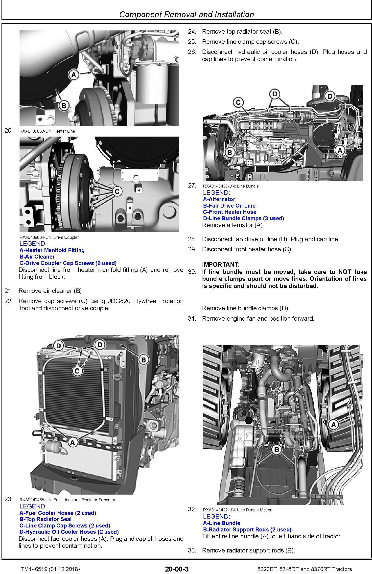 John Deere 8320RT, 8345RT and 8370RT Tractors (SN. 917000-) Repair Technical Manual (TM146519) - 1