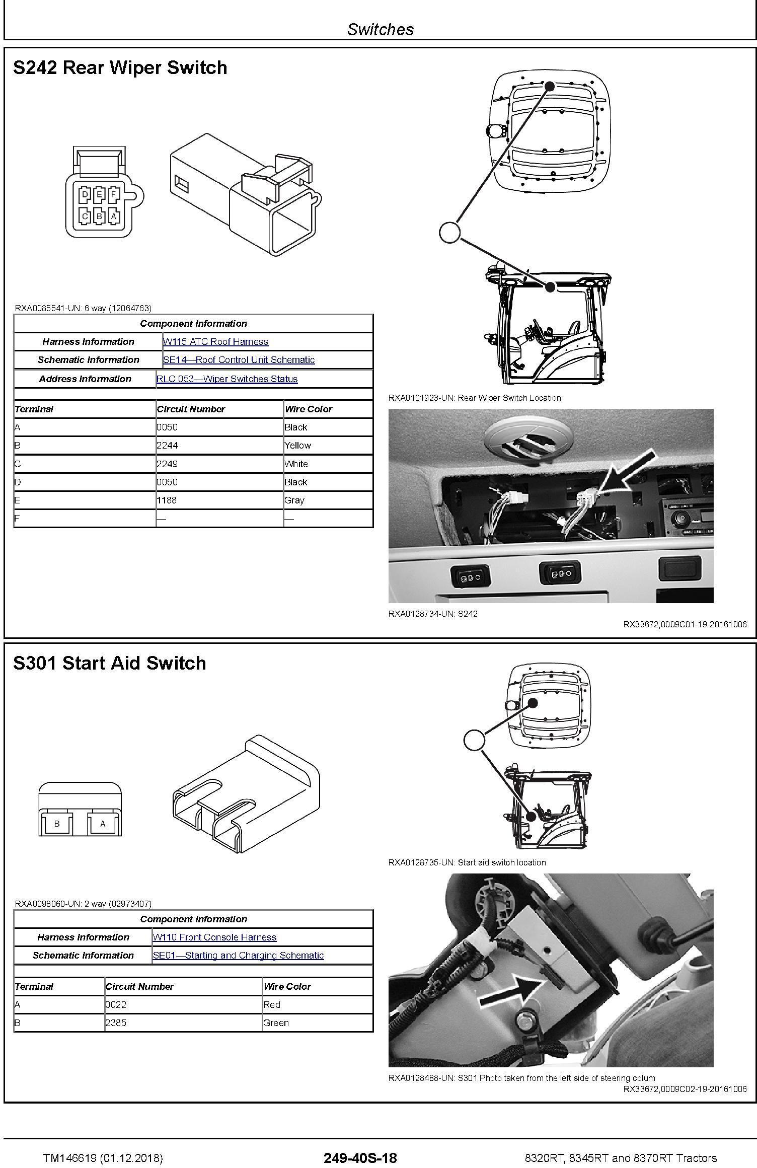 John Deere 8320RT, 8345RT, 8370RT Tractors (SN.917000-920000) Diagnostic Technical Manual (TM146619) - 1