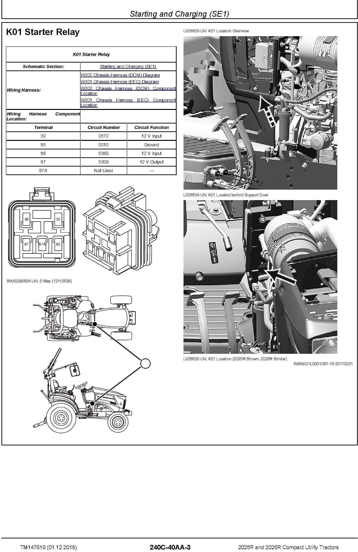 John Deere 2025R, 2026R Compact Utility Tractors (SN.HH100001-) Technical Service Manual (TM147619) - 3