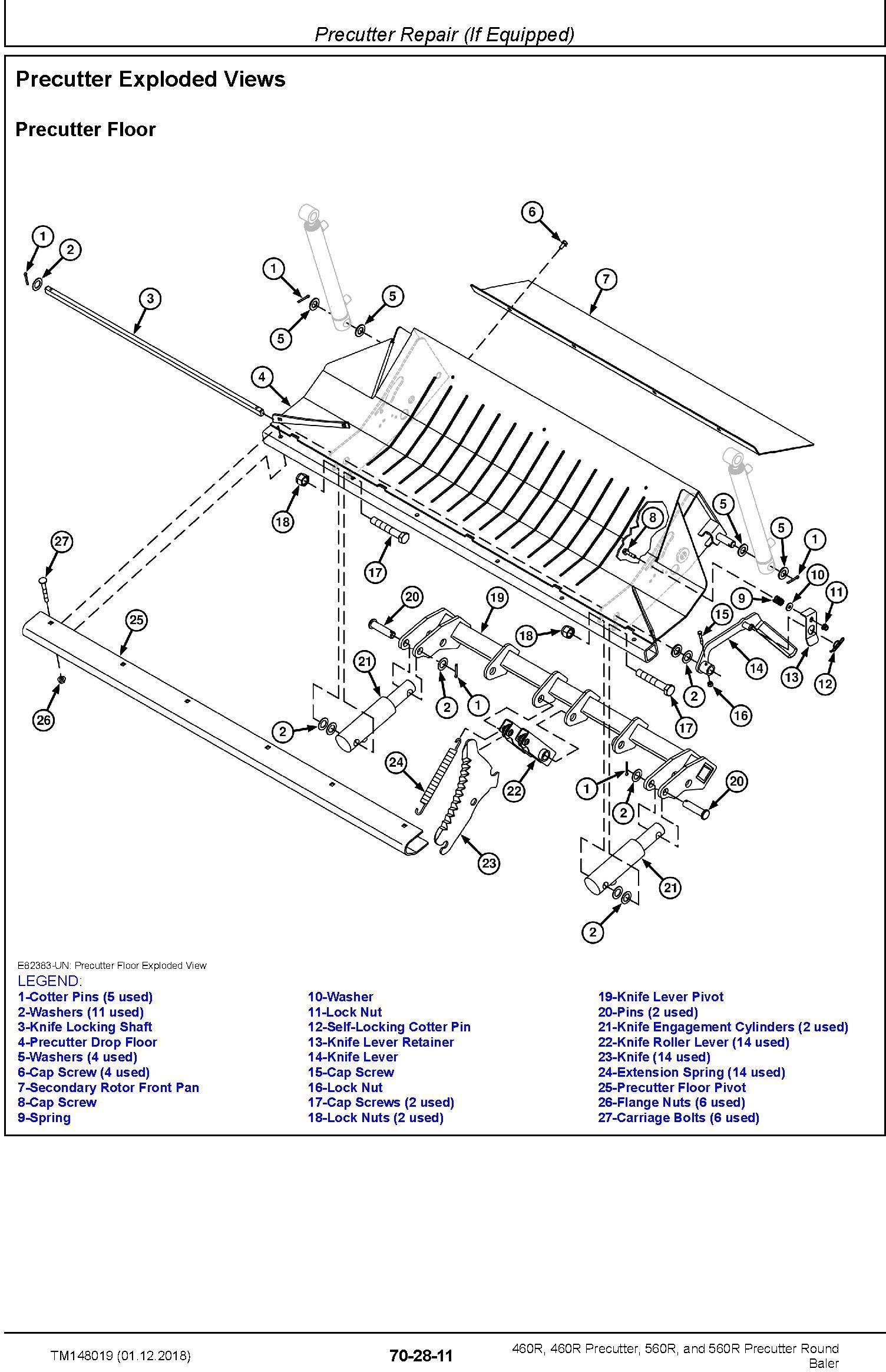 John Deere 460R, 460R Precutter, 560R, and 560R Precutter Round Baler Technical Manual (TM148019) - 3