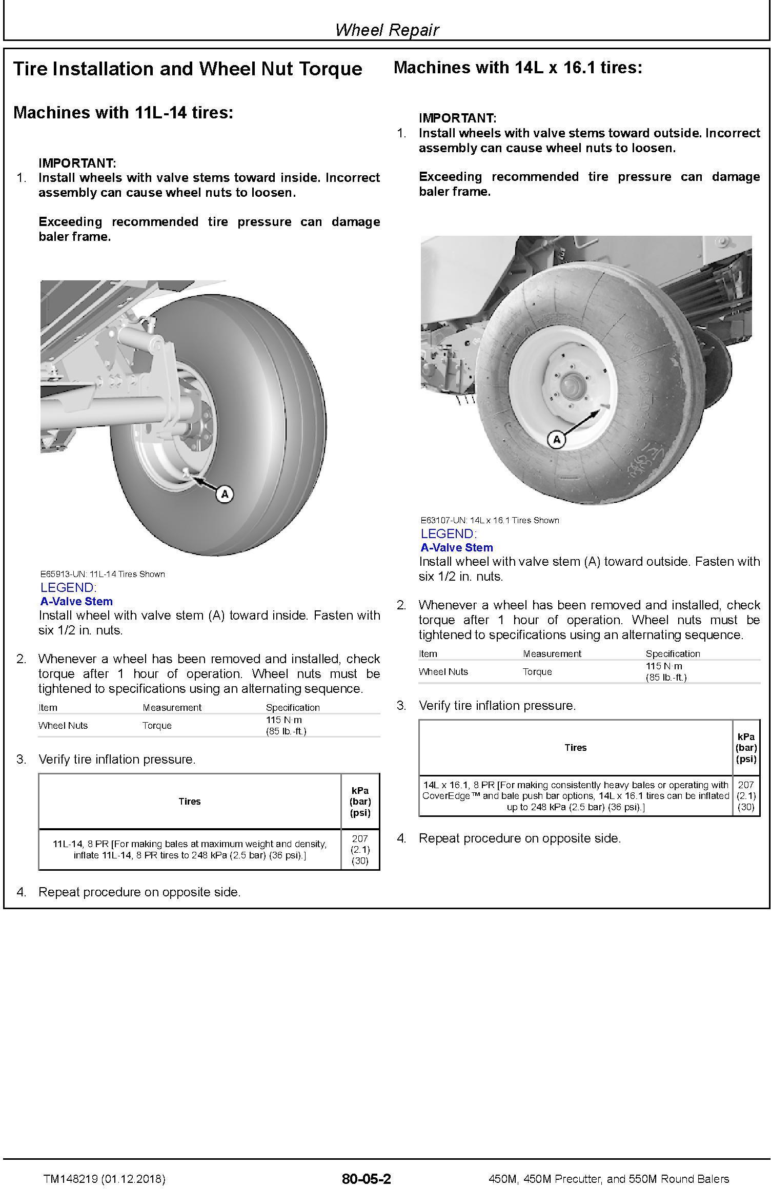 John Deere 450M, 450M Precutter, and 550M Round Balers Technical Service Manual (TM148219) - 3