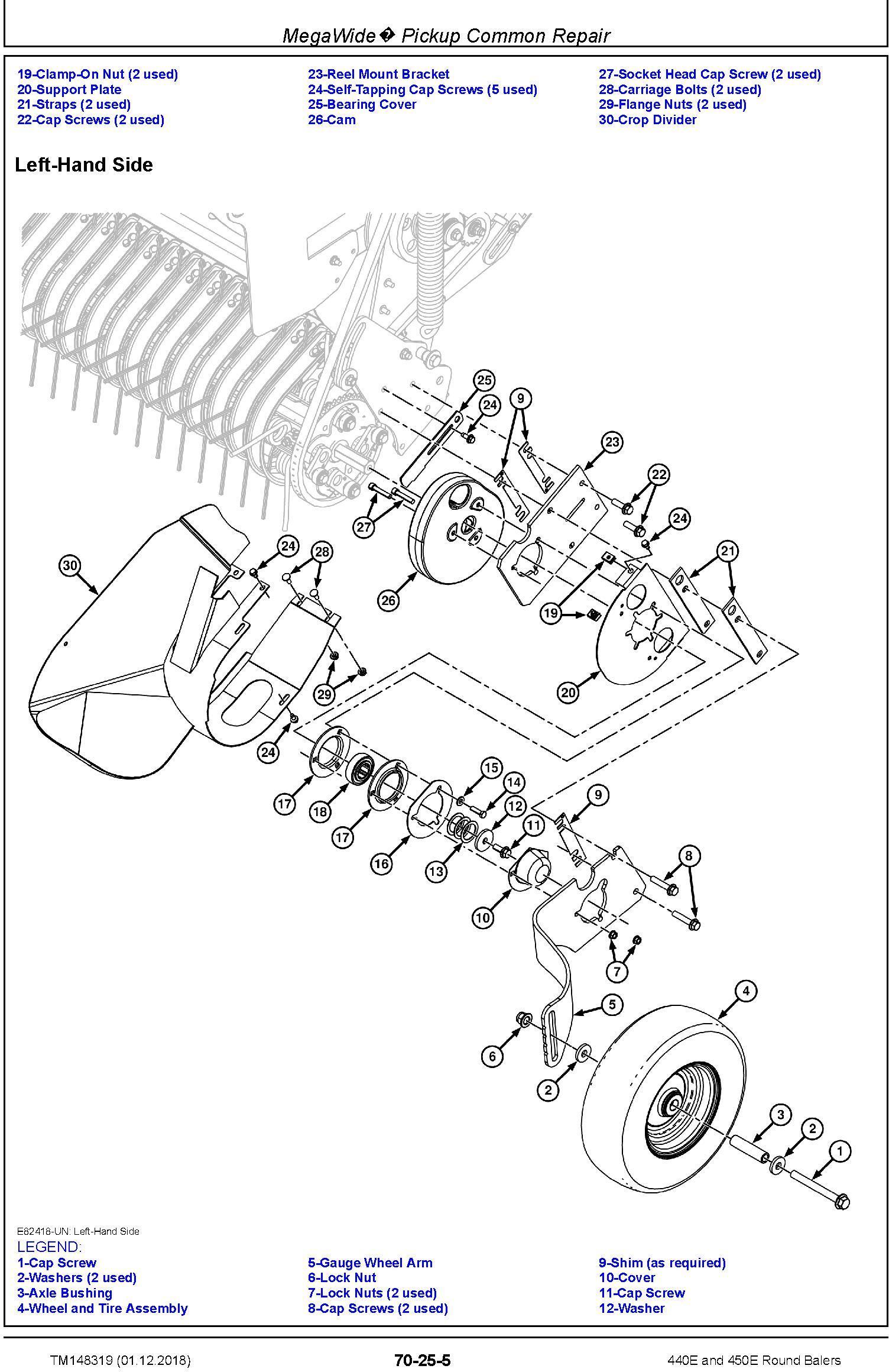 John Deere 440E and 450E Round Balers Technical Service Manual (TM148319) - 2
