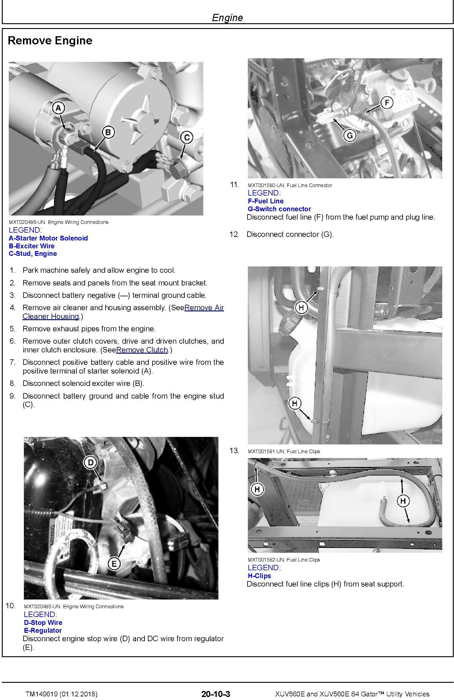 John Deere XUV560E and XUV560E S4 Gator Utility Vehicles (SN. 010001-) Technical Manual (TM149619) - 1
