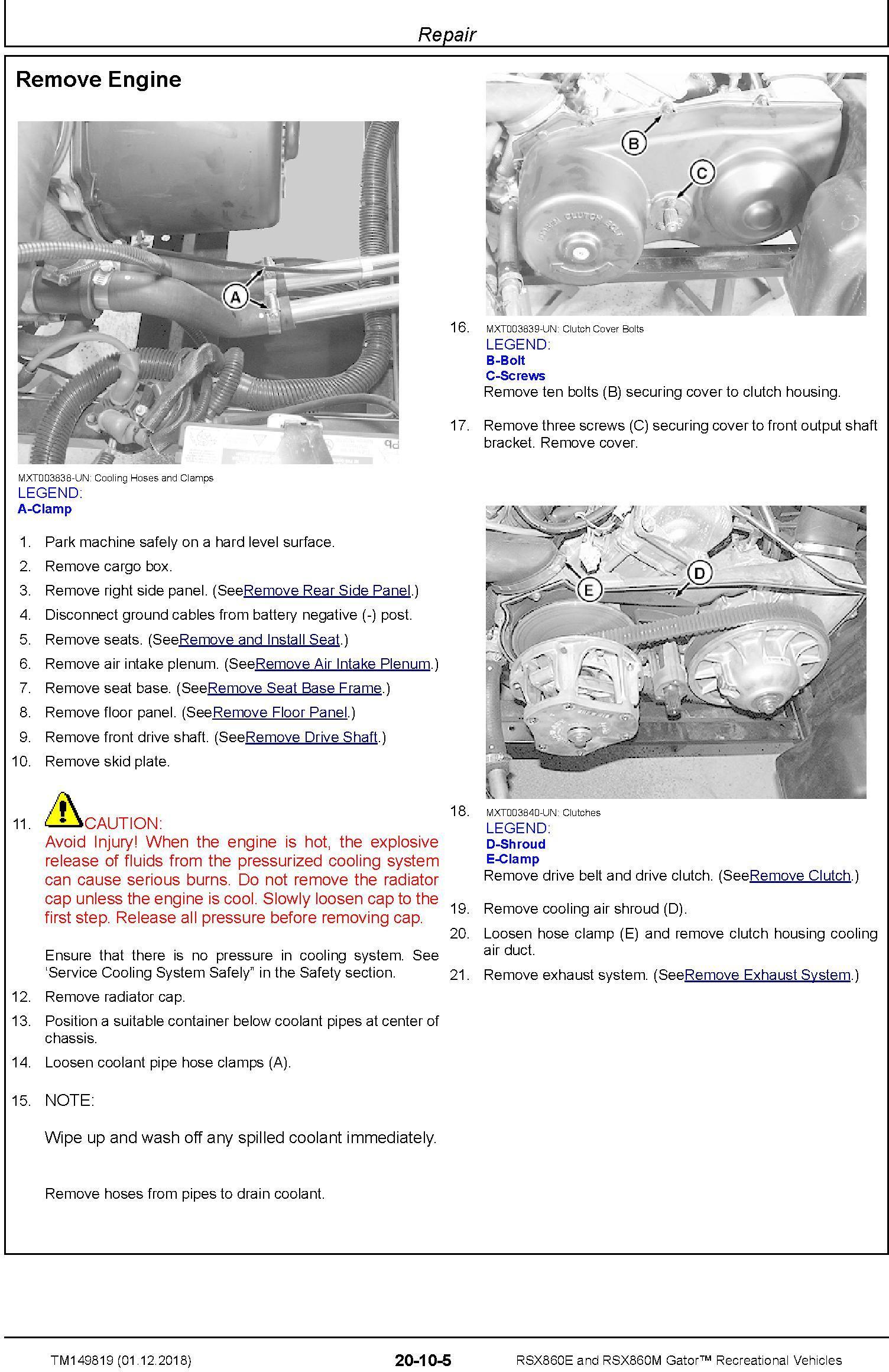 John Deere RSX860E and RSX860M Gator Recreational Vehicles (SN.010001-) Technical Manual (TM149819) - 1