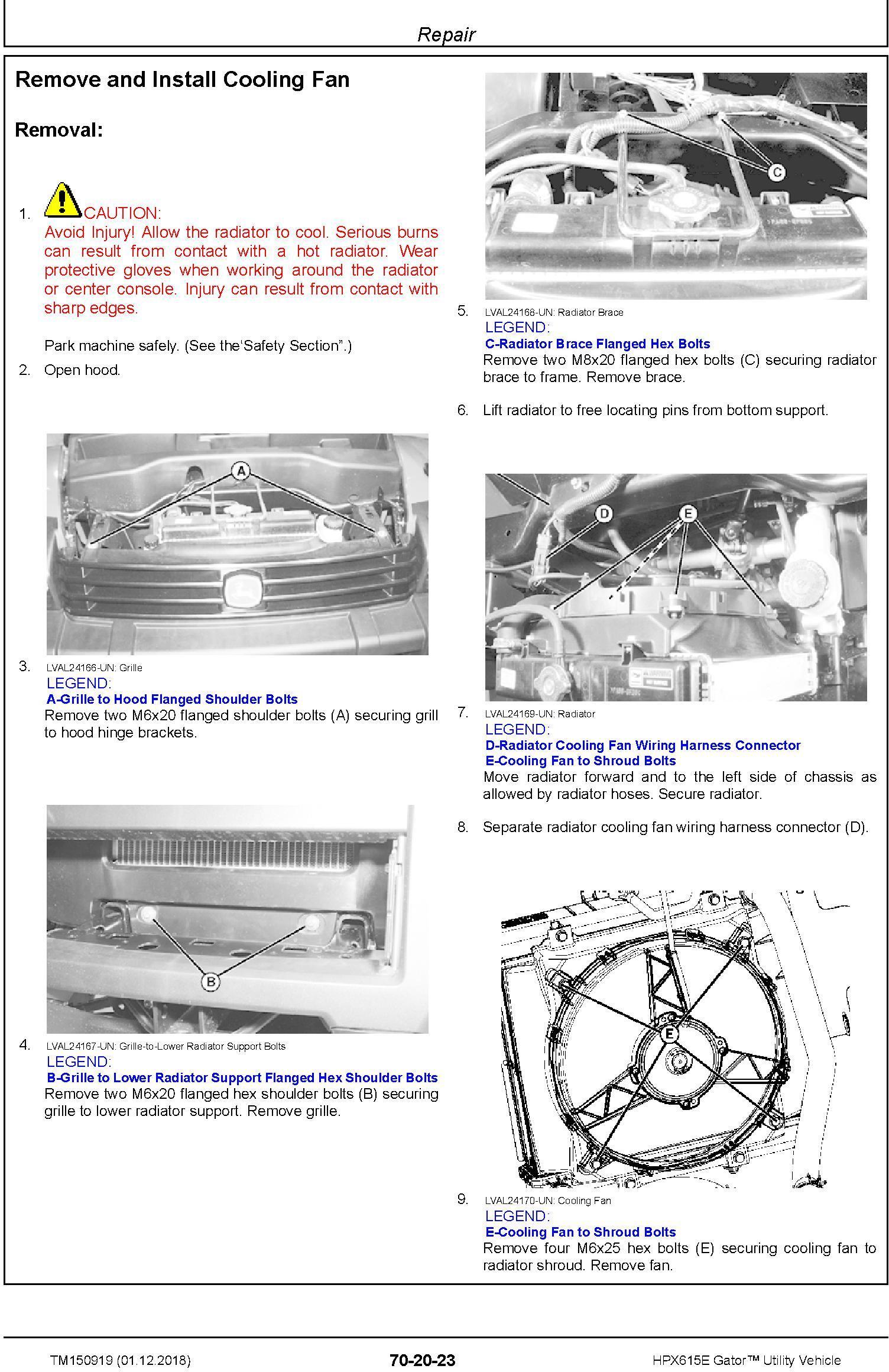 John Deere HPX615E Gator Utility Vehicle (SN. 010001-) Technical Manual (TM150919) - 2
