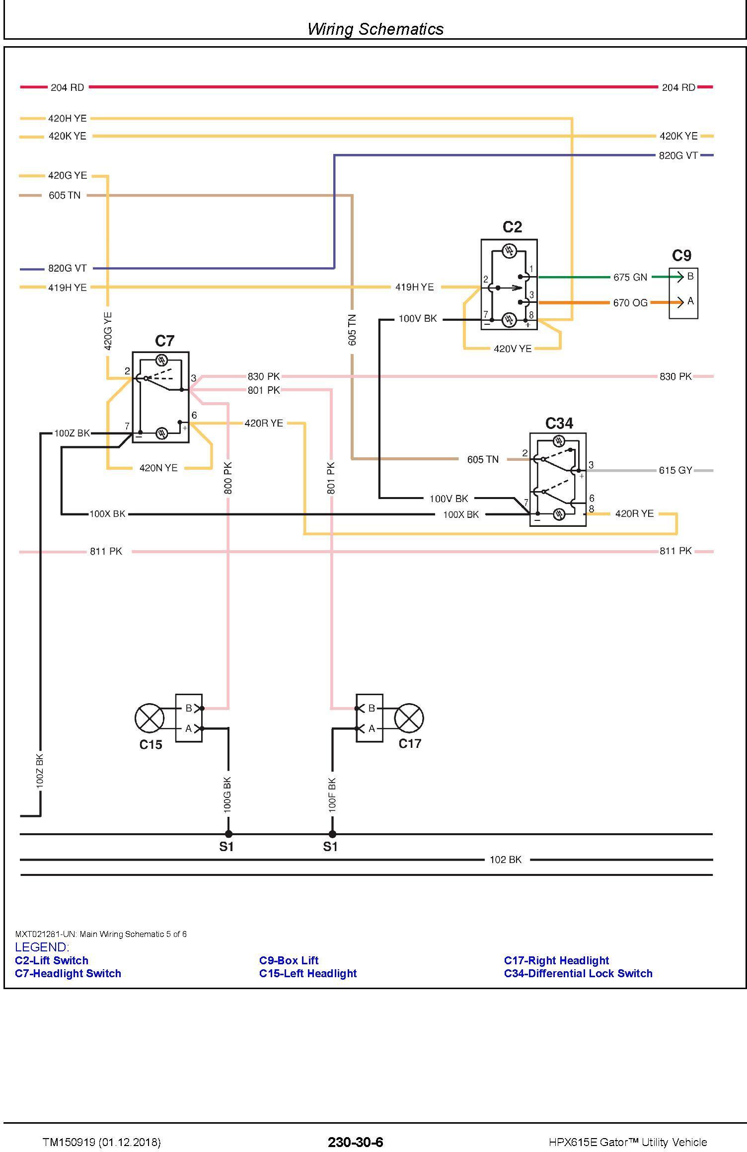 John Deere HPX615E Gator Utility Vehicle (SN. 010001-) Technical Manual (TM150919) - 3