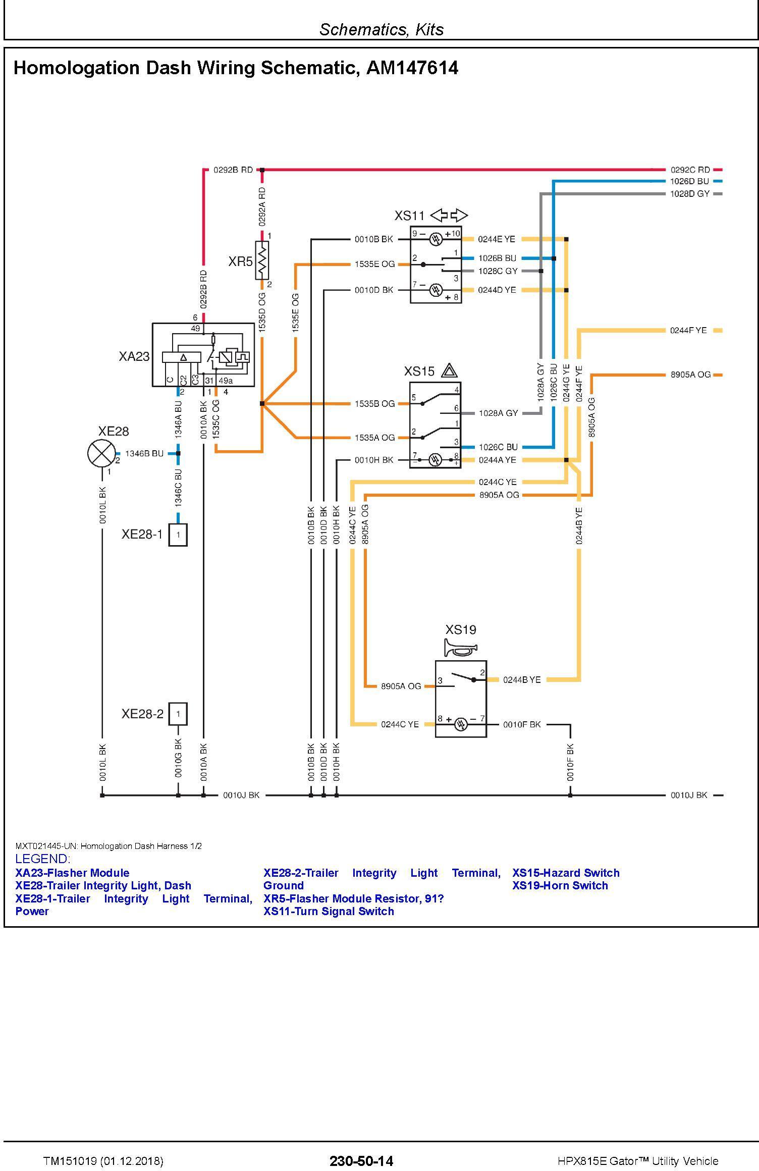 John Deere HPX815E Gator Utility Vehicle (SN. 010001-) Technical Service Manual (TM151019) - 1