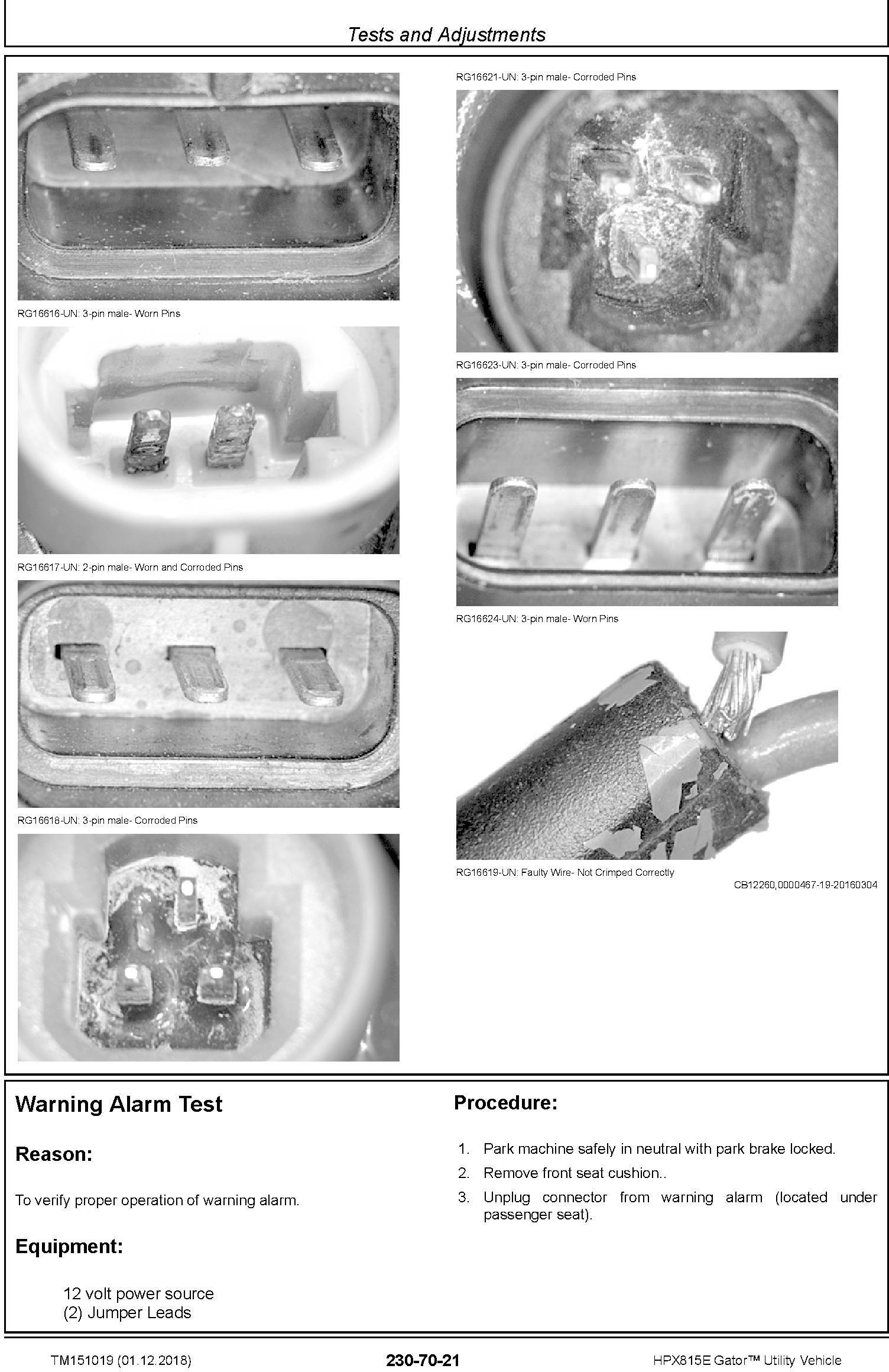 John Deere HPX815E Gator Utility Vehicle (SN. 010001-) Technical Service Manual (TM151019) - 3
