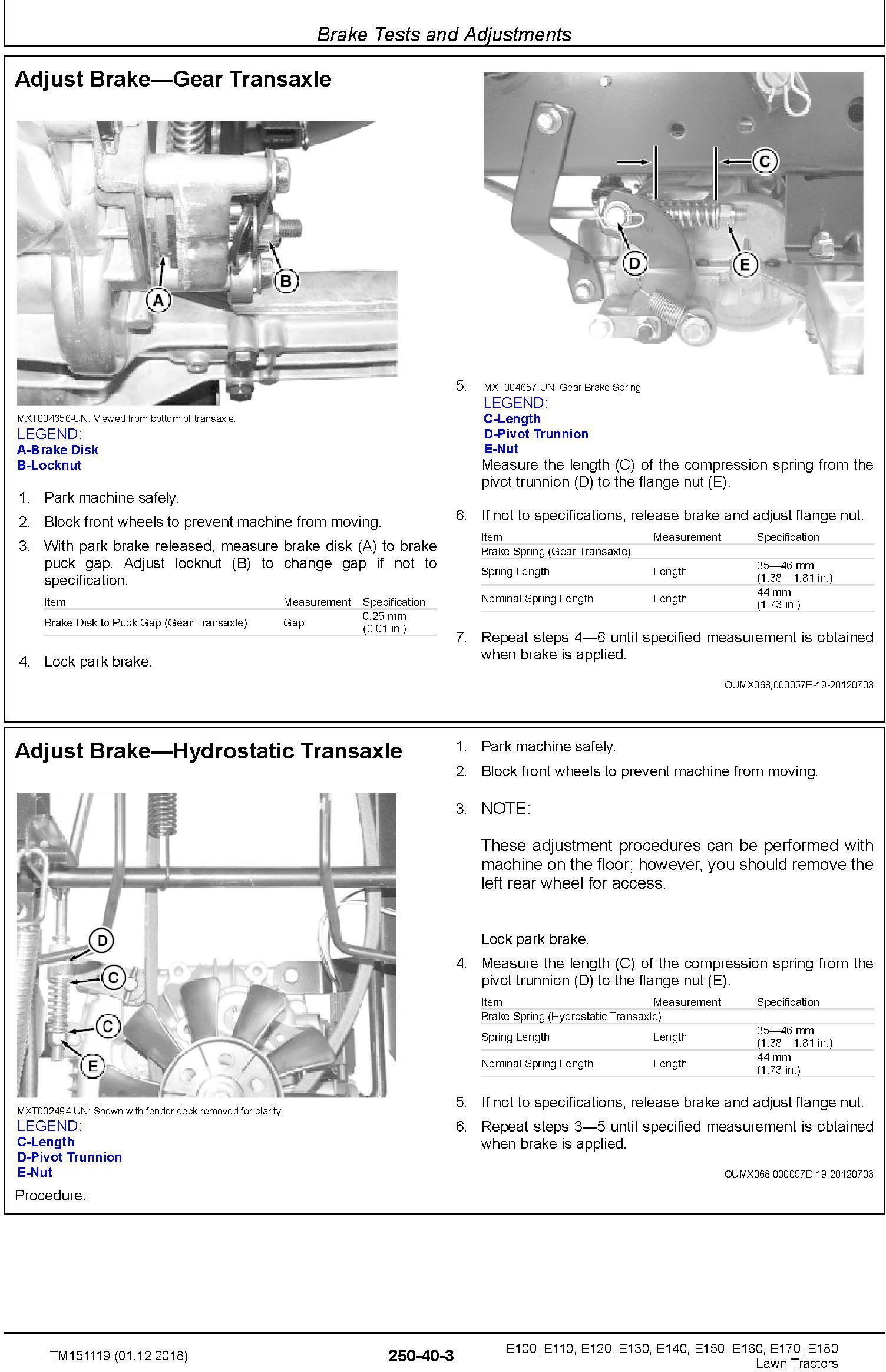 John Deere E100 E110 E120 E130 E140 E150 E160 E170 E180 Lawn Tractors Technical Manual (TM151119) - 3