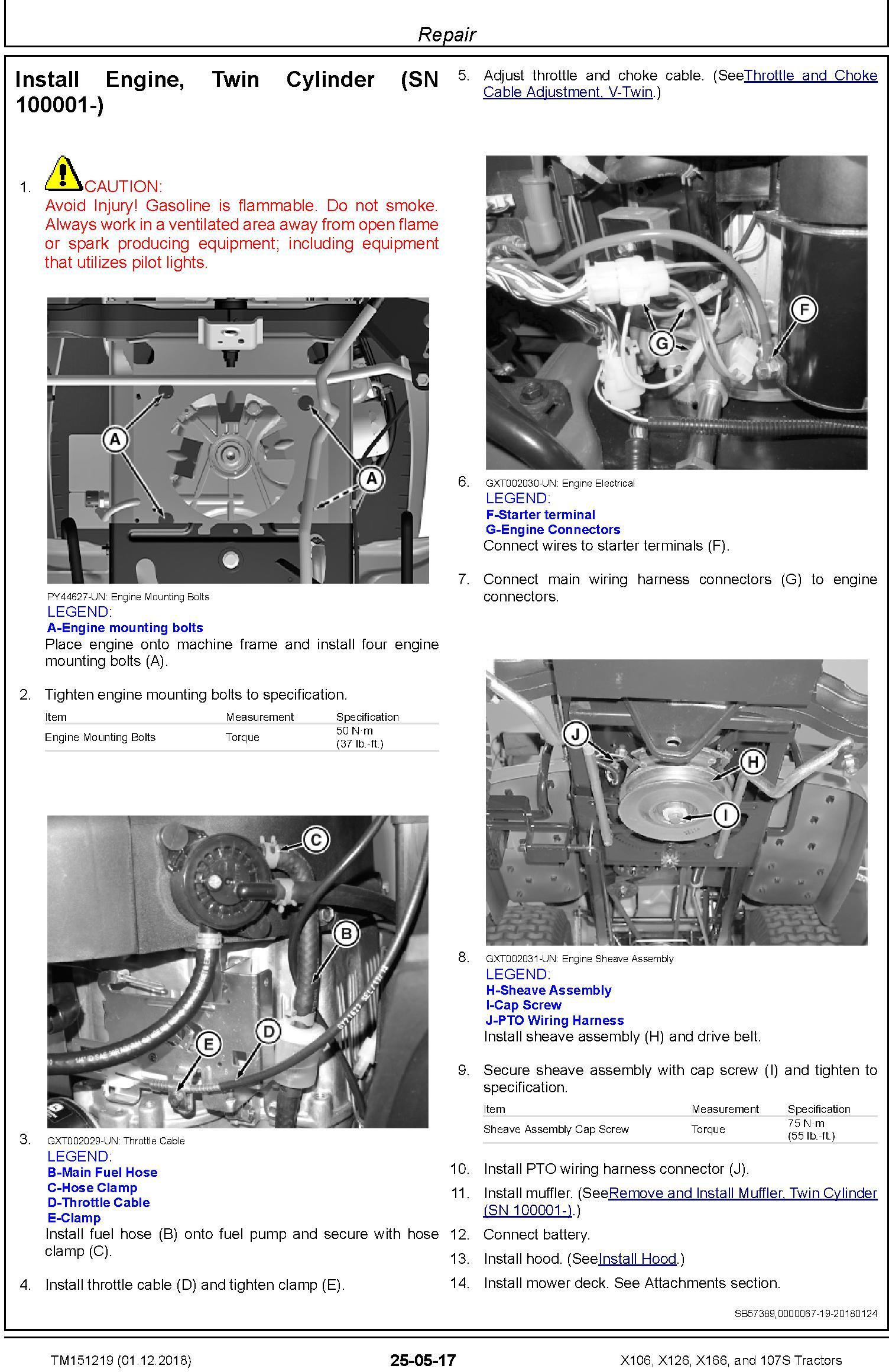 John Deere X106, X126, X166, and 107S Tractors (SN. 010001-) Technical Service Manual (TM151219) - 3