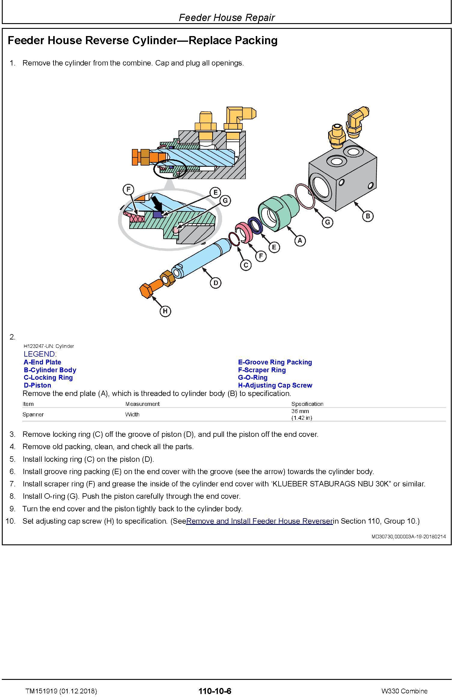 John Deere W330 Combine (SN.700949-) Repair Technical Service Manual (TM151919) - 3