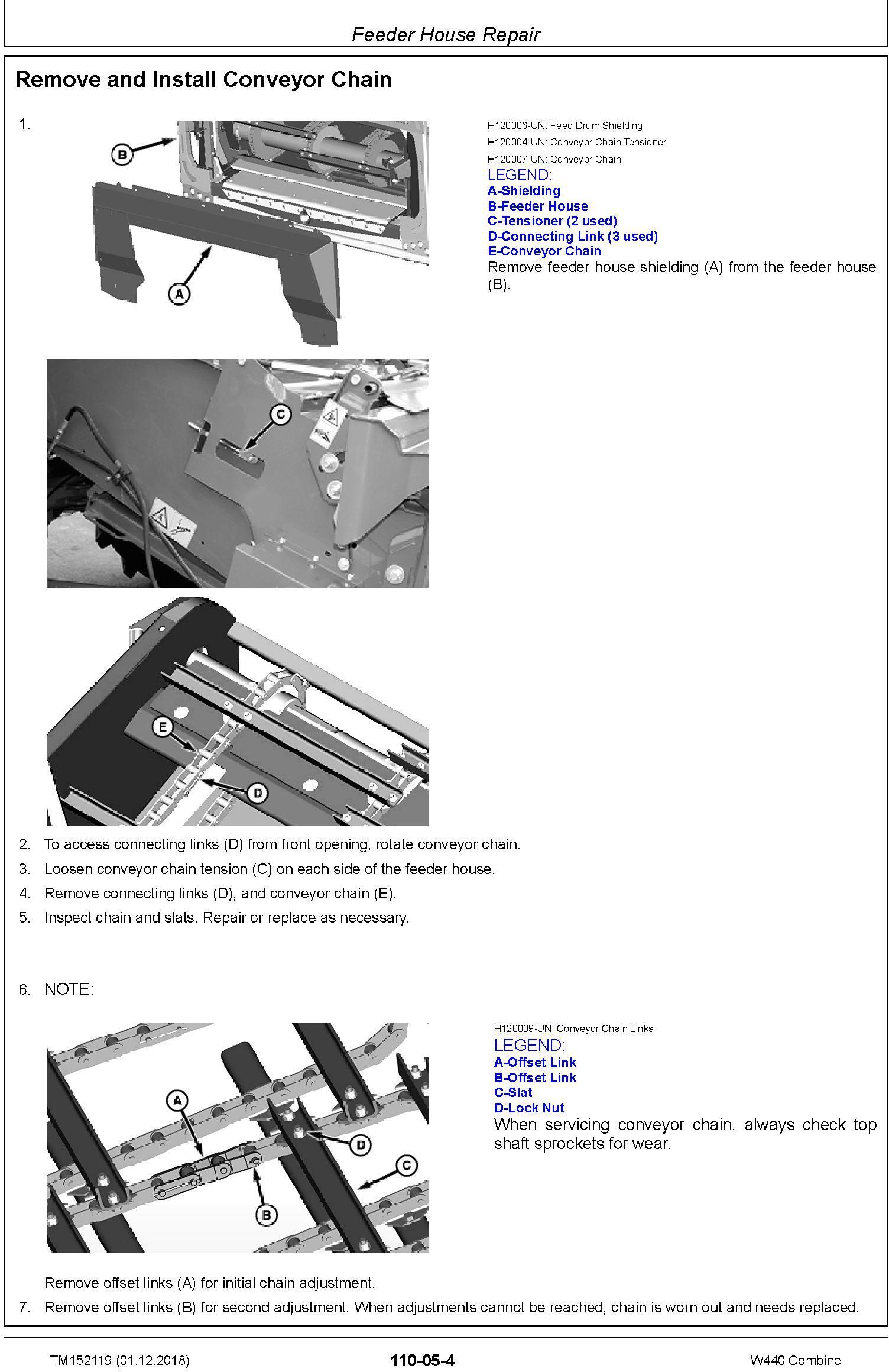 John Deere W440 Combine (SN.700949-) Repair Technical Manual (TM152119) - 3