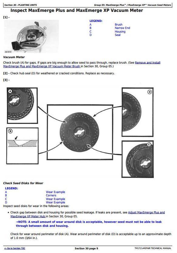 TM1721 - John Deere 1700, 1710, 1720, 1730, 1750, 1780 Planters (SN.-740100) Technical Service Manual - 1