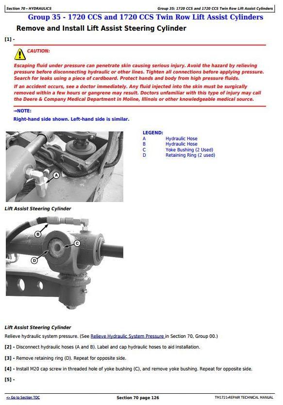 TM1721 - John Deere 1700, 1710, 1720, 1730, 1750, 1780 Planters (SN.-740100) Technical Service Manual - 2