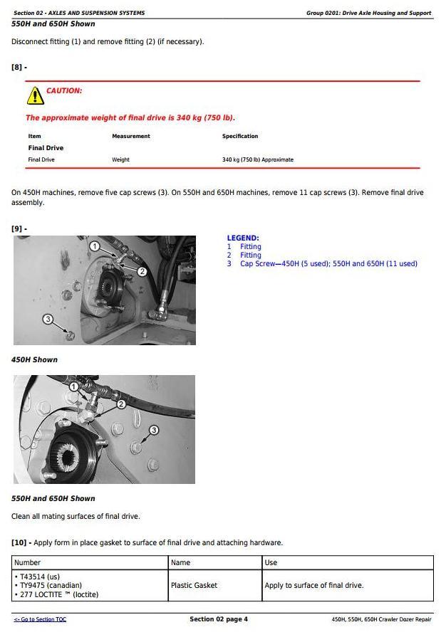 TM1744 - John Deere 450H, 550H, 650H Crawler Dozer Service Repair Technical Workshop Manual - 1