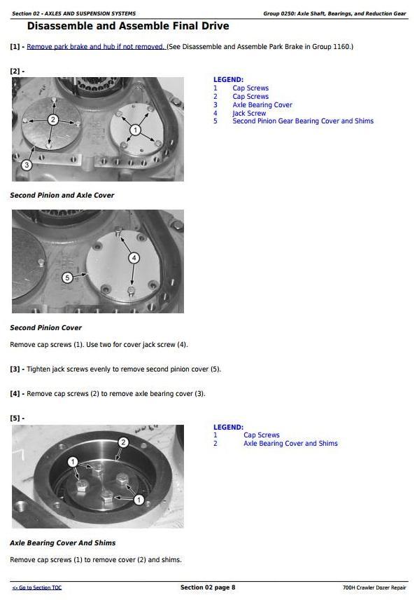 TM1859 - John Deere 700H Crawler Dozer Service Repair Technical Manual - 1