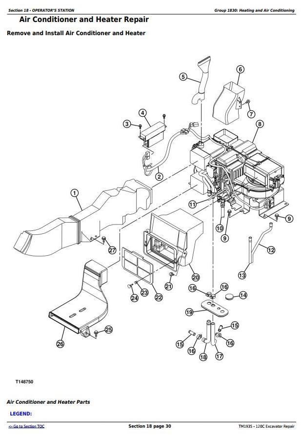 TM1935 - John Deere 120C Excavator Service Repair Manual - 2
