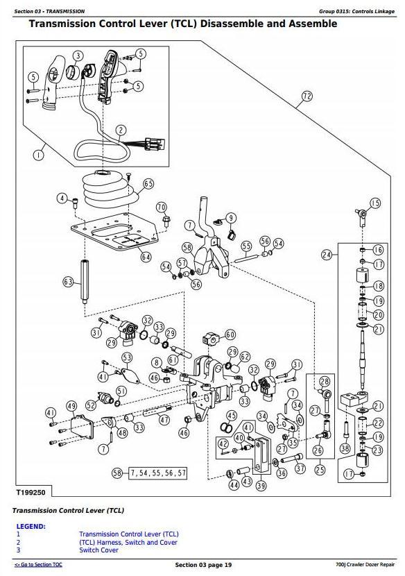 TM2291 - John Deere 700J Crawler Dozer (S.N. before 139435) Service Repair Technical Manual - 1