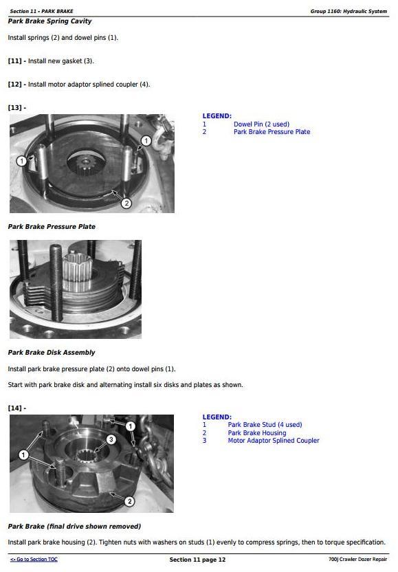 TM2291 - John Deere 700J Crawler Dozer (S.N. before 139435) Service Repair Technical Manual - 2