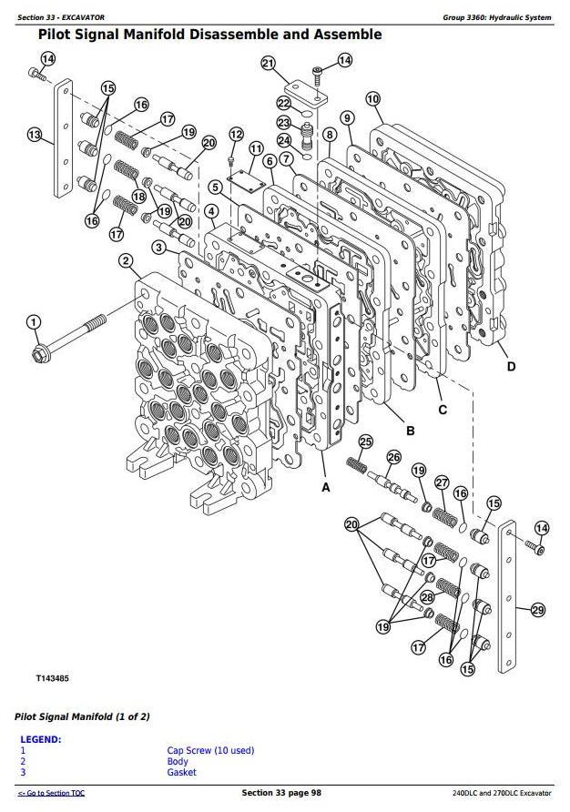 TM2323 - John Deere 240DLC and 270DLC Excavator Service Repair Manual Technical - 3