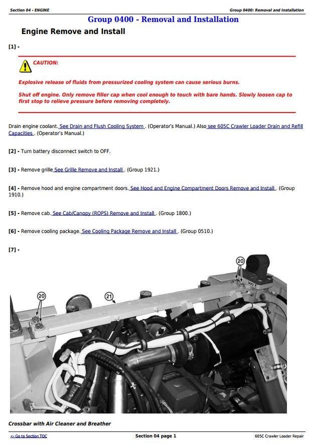 TM2354 - John Deere 605C Crawler Loader Service Repair Technical Manual - 2