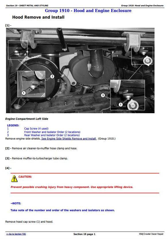 TM2364 - John Deere 950J Crawler Dozer Service Repair Technical Manual - 2