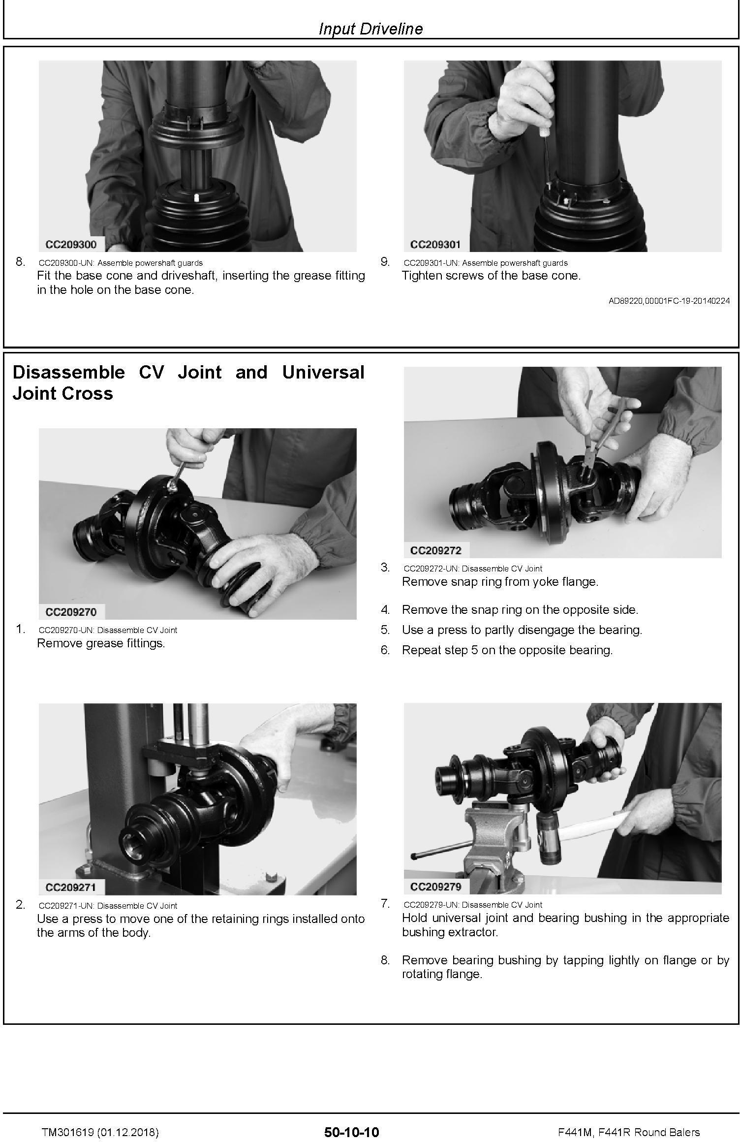 John Deere F441M, F441R Round Balers Service Repair Technical Manual (TM301619) - 2