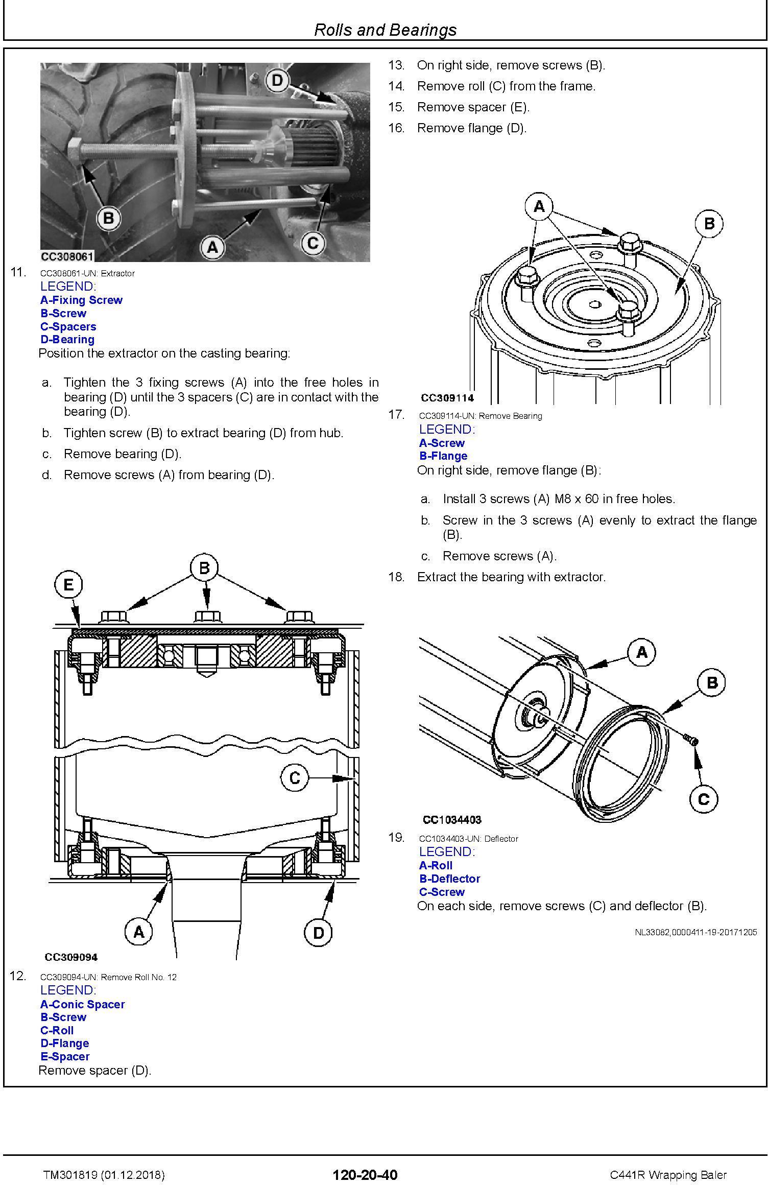 John Deere C441R Wrapping Baler Service Repair Technical Manual (TM301819) - 2