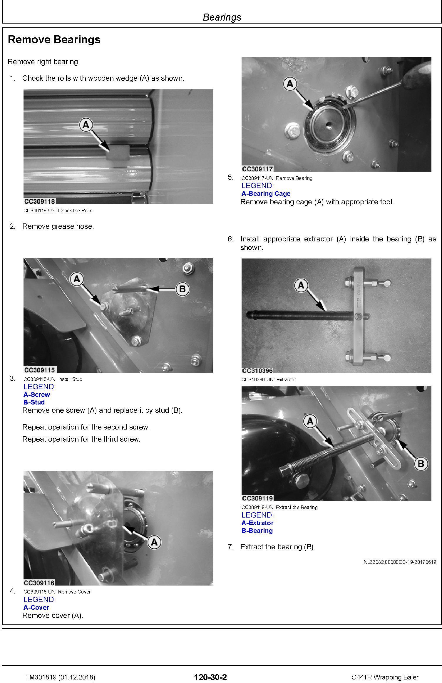 John Deere C441R Wrapping Baler Service Repair Technical Manual (TM301819) - 3