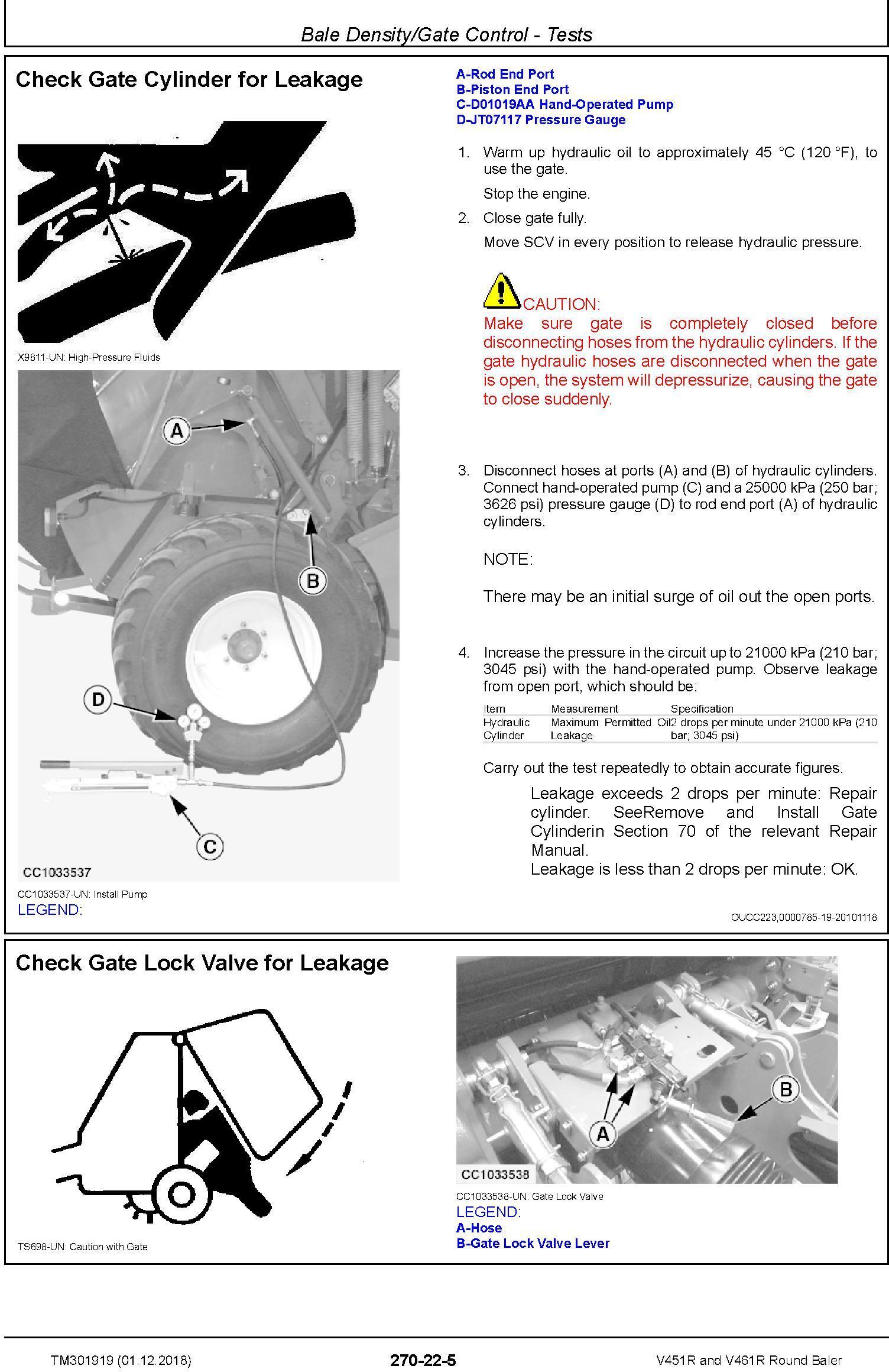 John Deere V451R and V461R Round Baler Diagnostic Technical Manual (TM301919) - 3