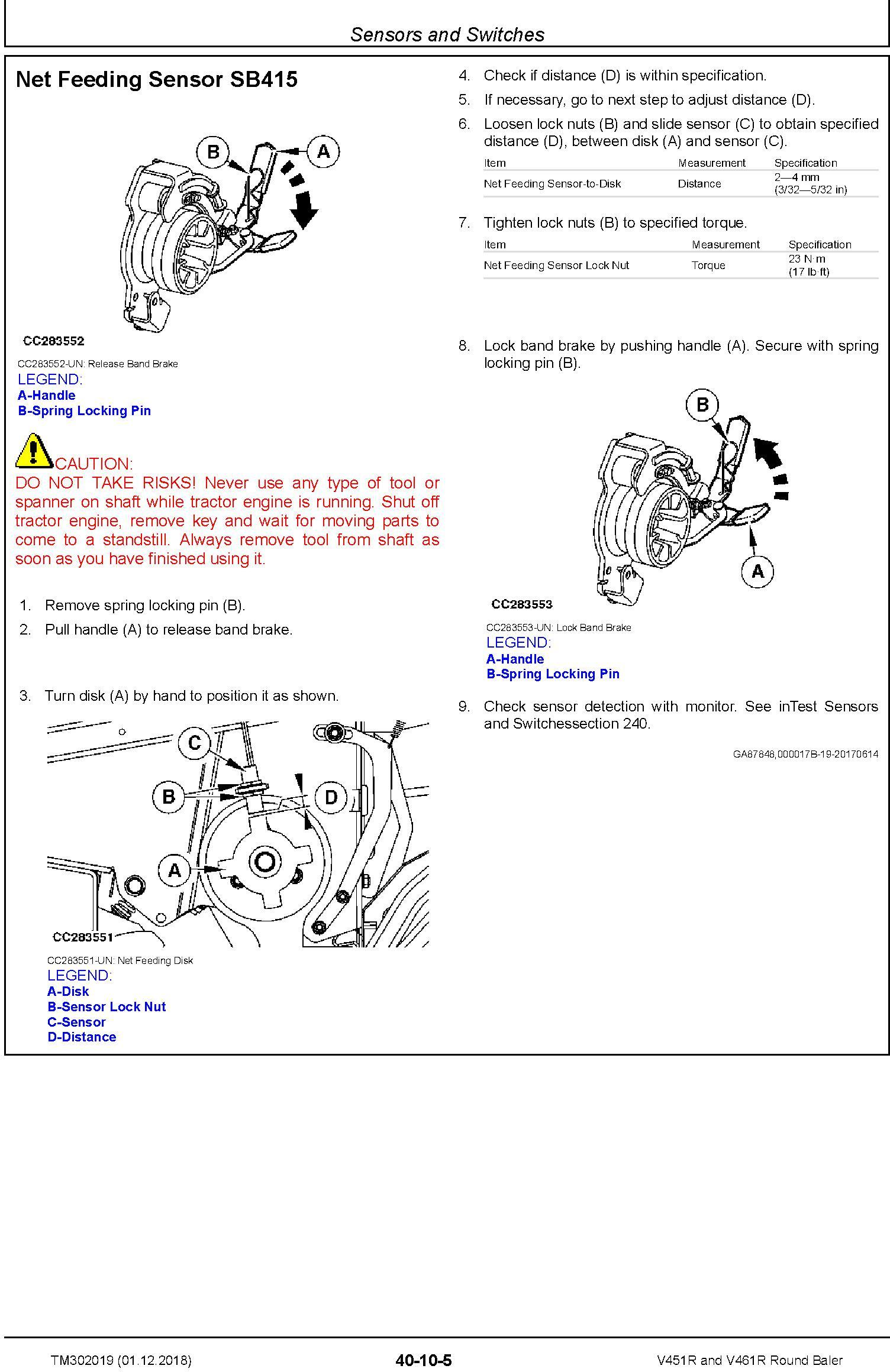 John Deere V451R and V461R Round Baler Service Repair Technical Manual (TM302019) - 2