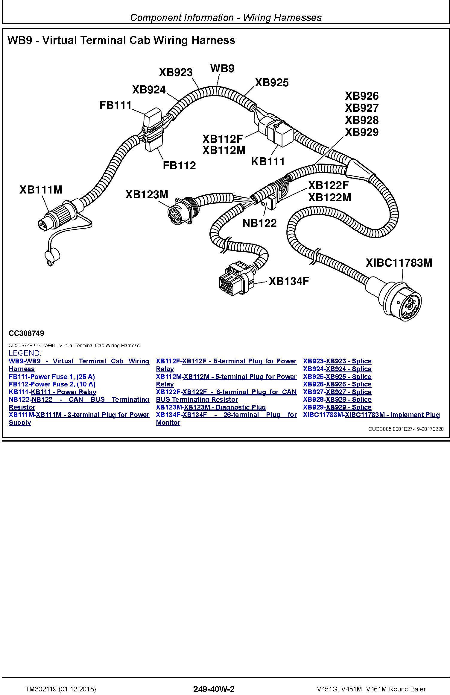 John Deere V451G, V451M, V461M Round Baler Diagnostic Technical Service Manual (TM302119) - 1