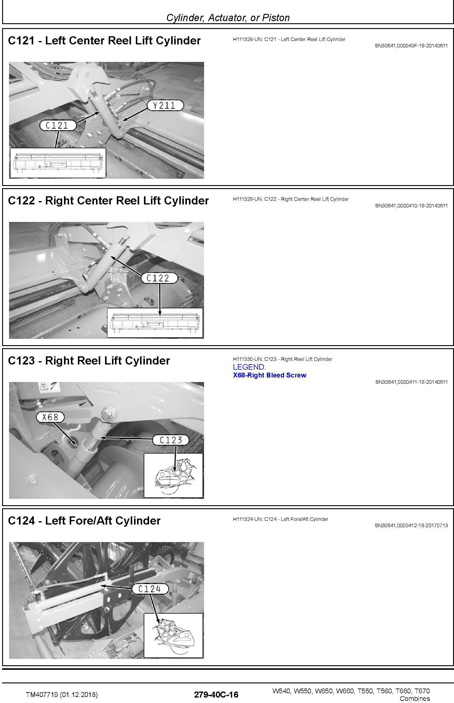 John Deere W540 W550 W650 W660, T550 T560 T660 T670 Combines Diagnostic Technical Manual (TM407719) - 2