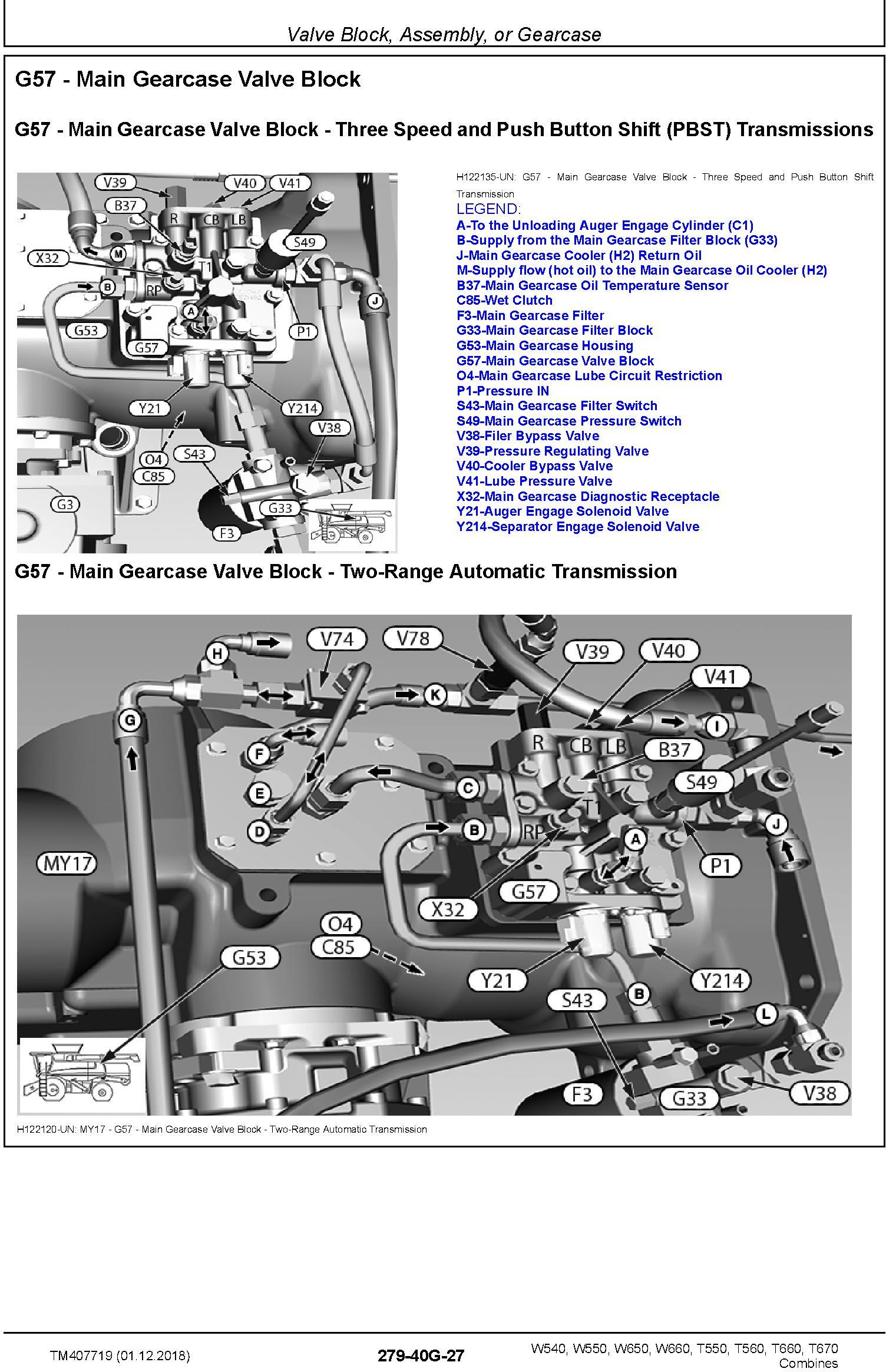 John Deere W540 W550 W650 W660, T550 T560 T660 T670 Combines Diagnostic Technical Manual (TM407719) - 3
