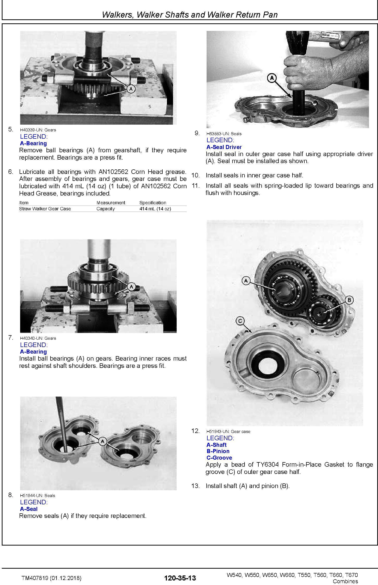 John Deere W540, W550, W650, W660, T550, T560, T660, T670 Combine Repair Technical Manual (TM407819) - 3