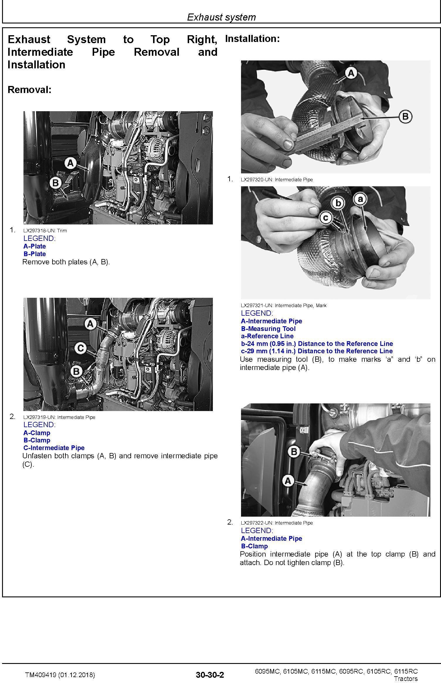 John Deere 6095MC,6105MC, 6115MC, 6095RC, 6105RC, 6115RC Tractors MY2016-17 Repair Manual (TM409419) - 2