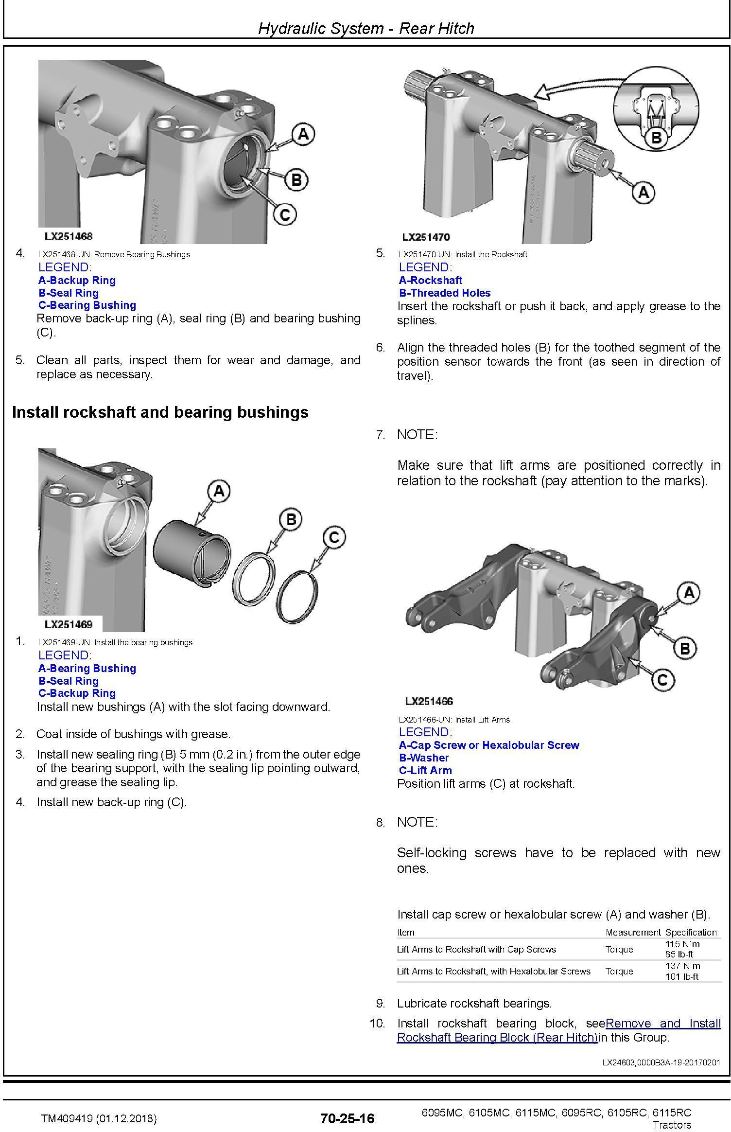 John Deere 6095MC,6105MC, 6115MC, 6095RC, 6105RC, 6115RC Tractors MY2016-17 Repair Manual (TM409419) - 3