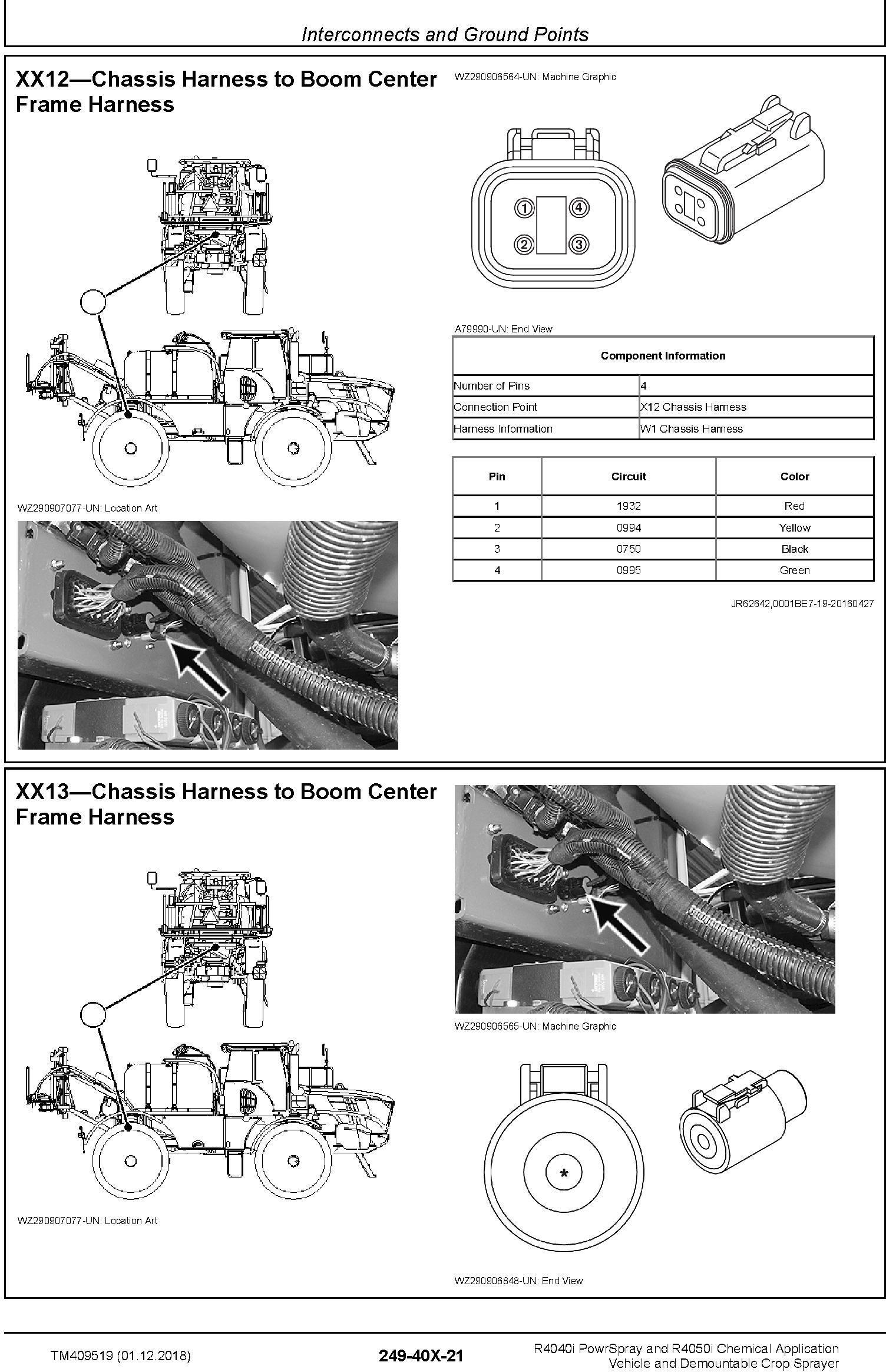 John Deere R4040i, R4050i Demountable Crop Sprayer (MY18) Diagnostic Technical Service Manual (TM409519) - 2