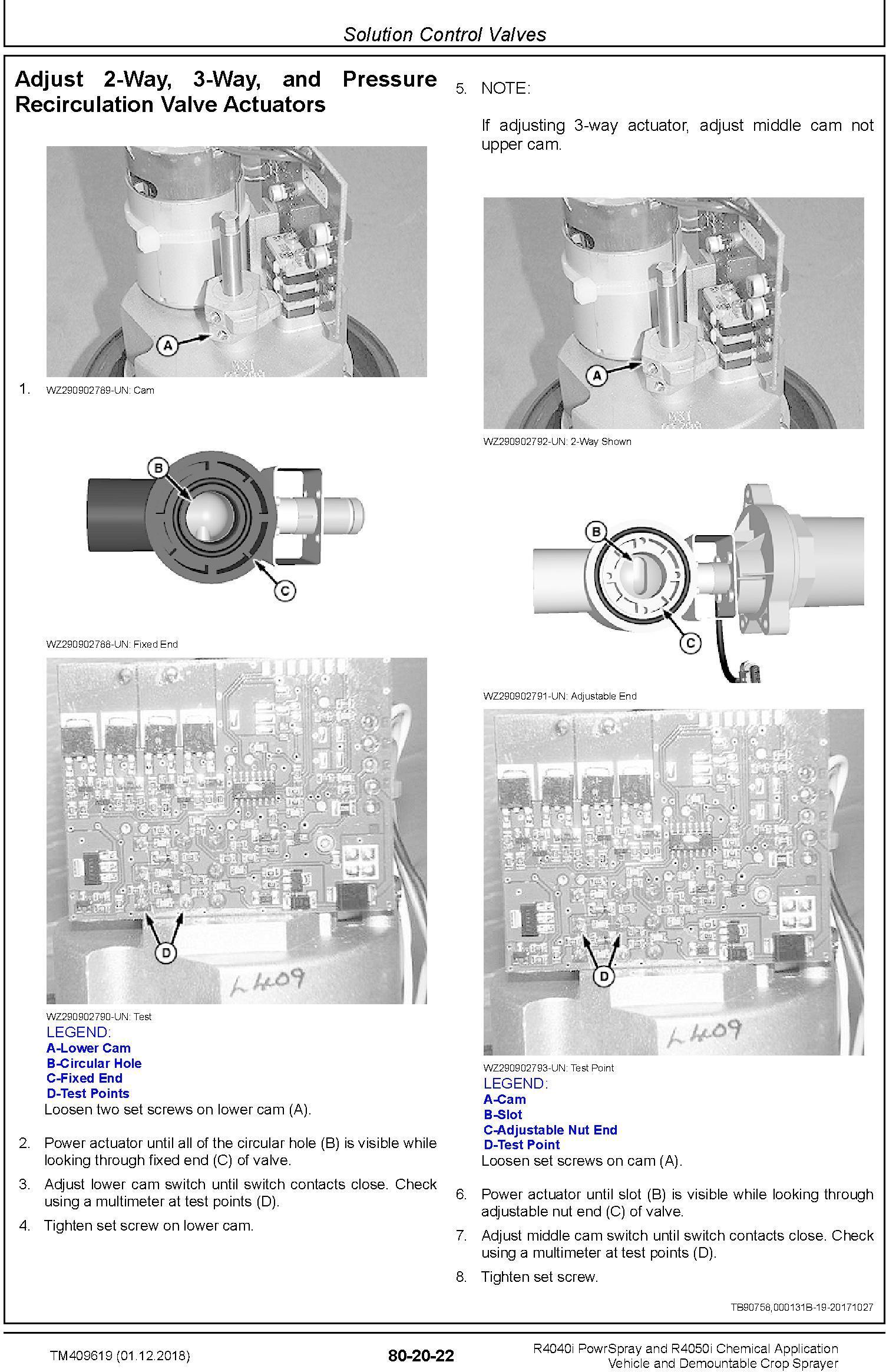 John Deere R4040i, R4050i Demountable Crop Sprayer (MY18) Repair Technical Service Manual (TM409619) - 1