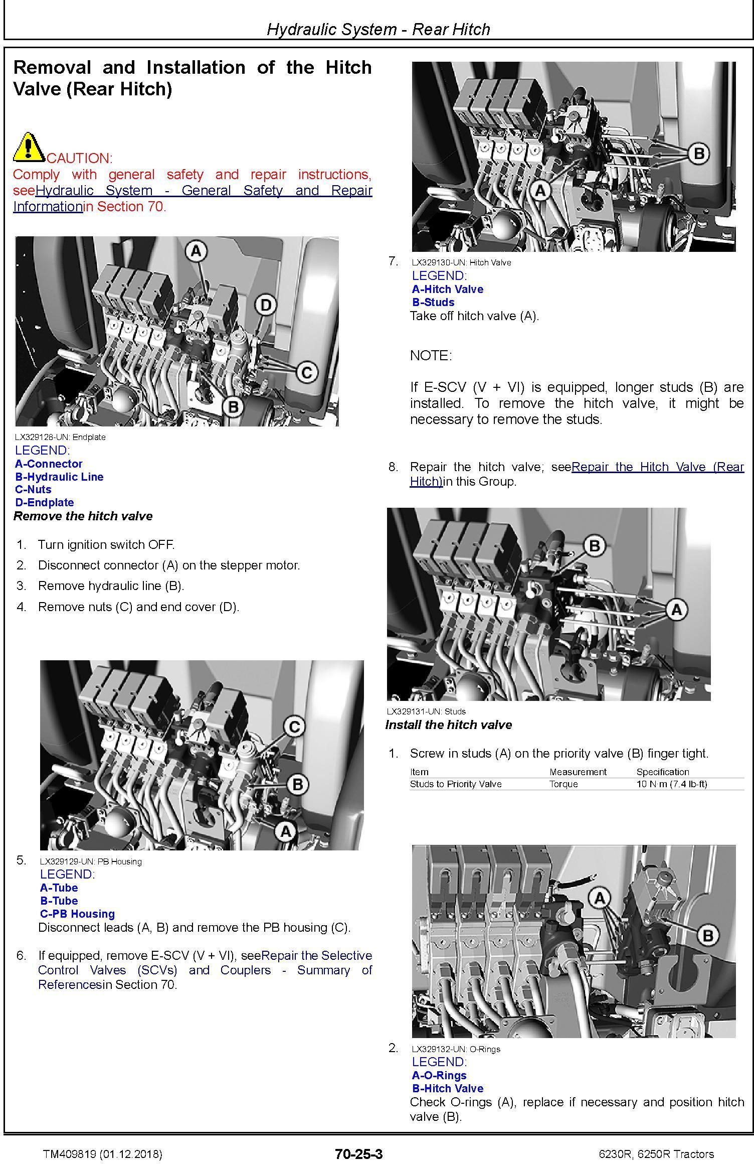 John Deere 6230R, 6250R Tractors MY2017,18,19 Service Repair Technical Manual (TM409819) - 3
