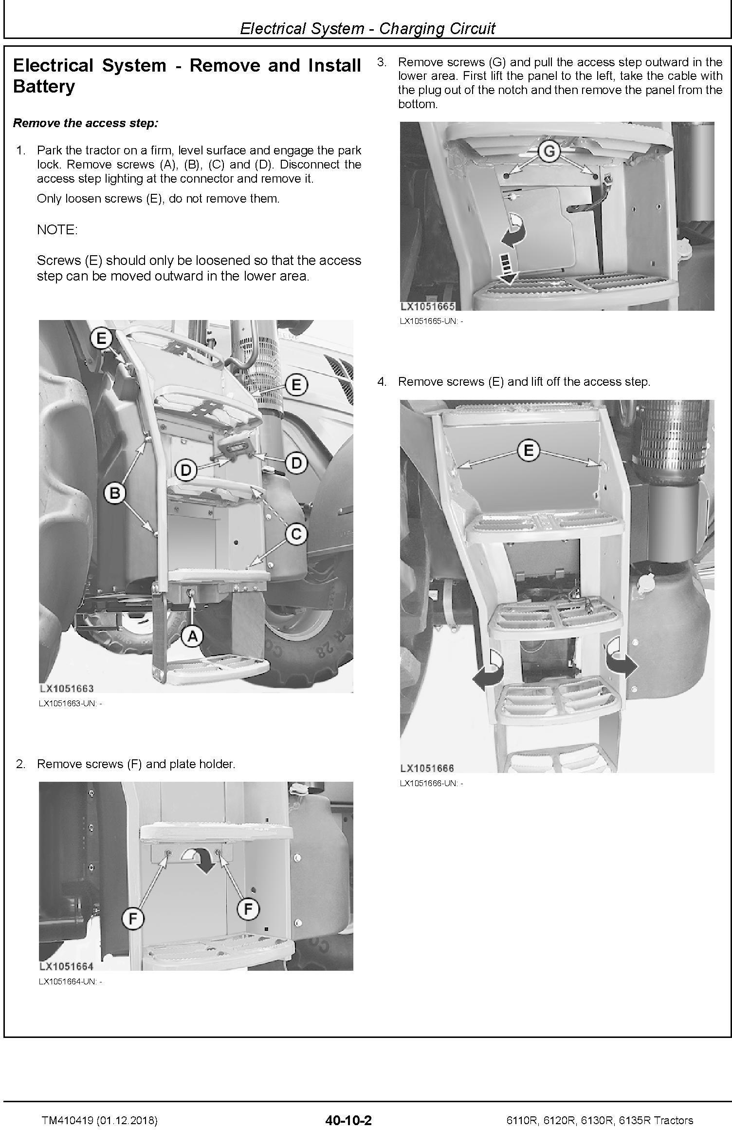 John Deere 6110R, 6120R, 6130R, 6135R Tractors (MY18) Service Repair Technical Manual (TM410419) - 1