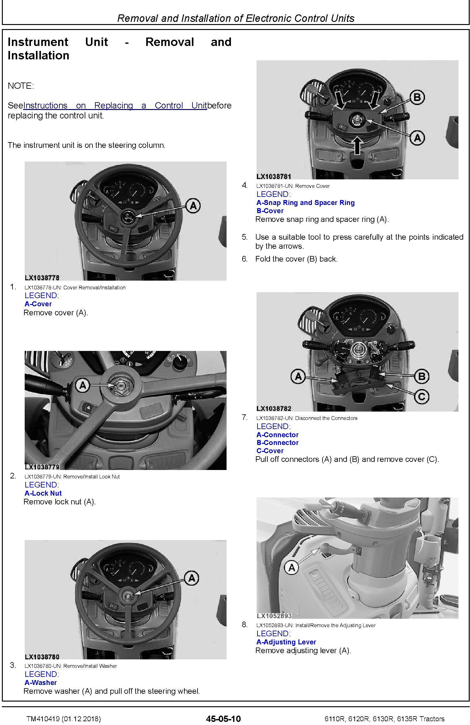 John Deere 6110R, 6120R, 6130R, 6135R Tractors (MY18) Service Repair Technical Manual (TM410419) - 2