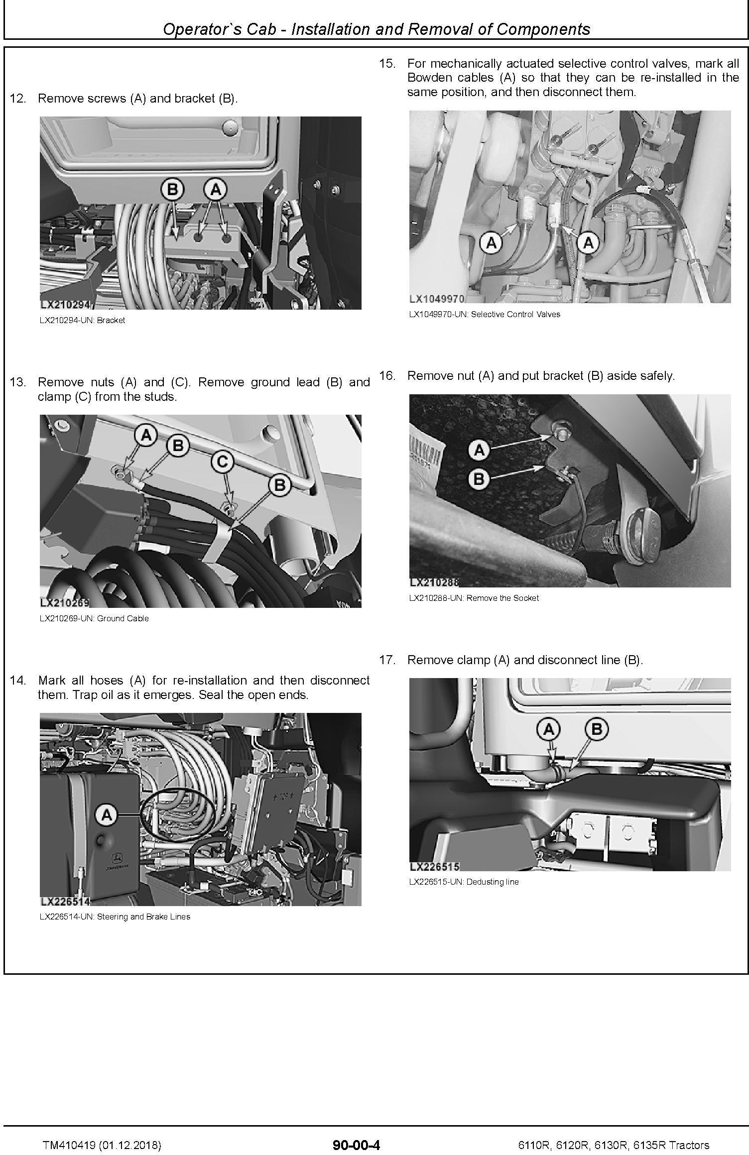 John Deere 6110R, 6120R, 6130R, 6135R Tractors (MY18) Service Repair Technical Manual (TM410419) - 3