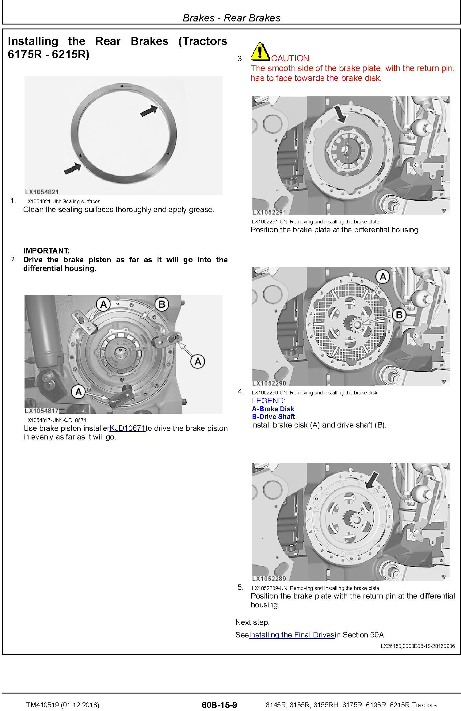 John Deere 6145R, 6155R, 6155RH, 6175R, 6195R, 6215R MY18 Tractor Repair Technical Manual (TM410519) - 2