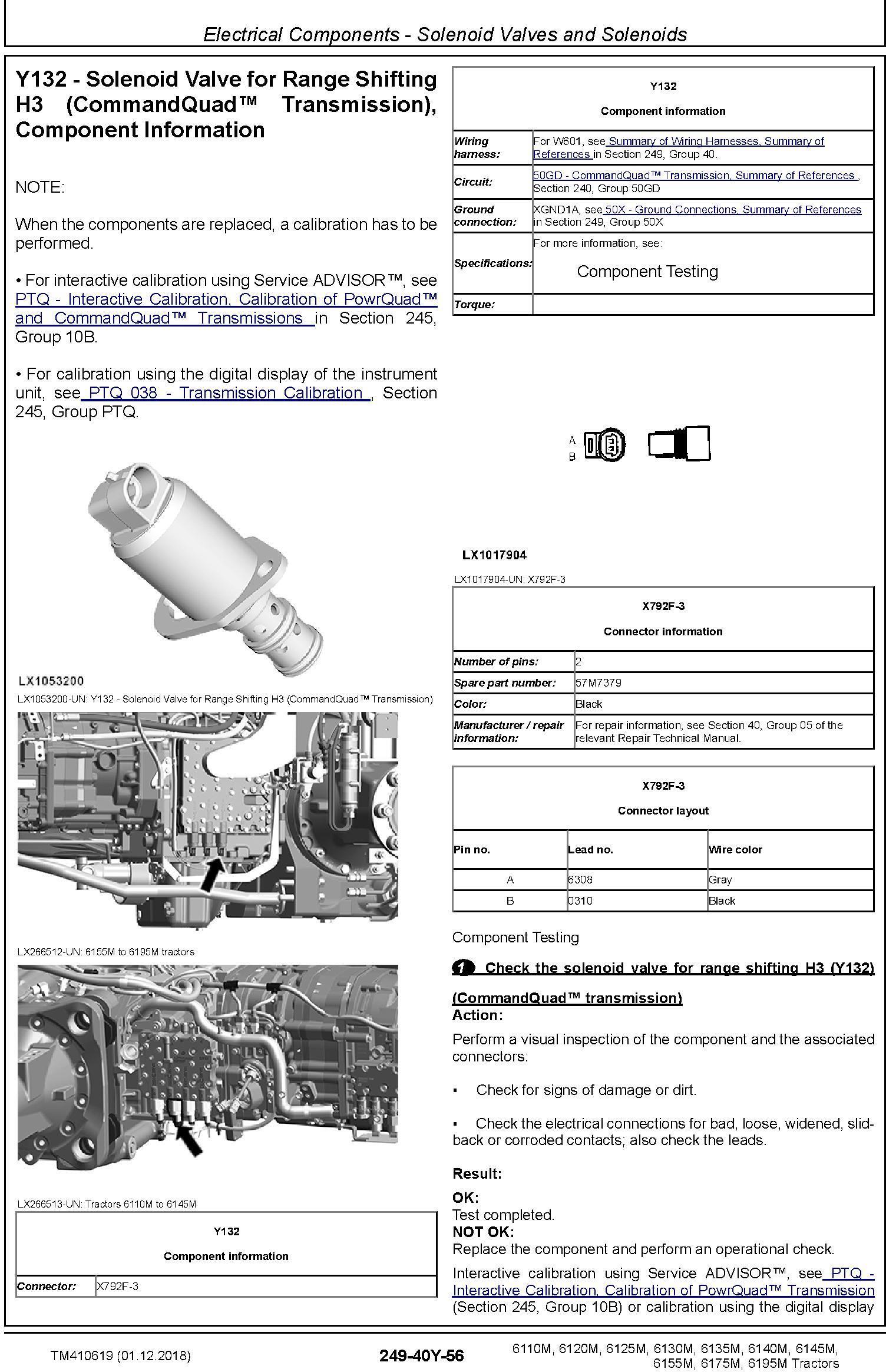 John Deere 6110M/20M 6130M/40M 6125M/35M 6145M/55M 6175M 6195M Tractors Diagnostic Manual (TM410619) - 1
