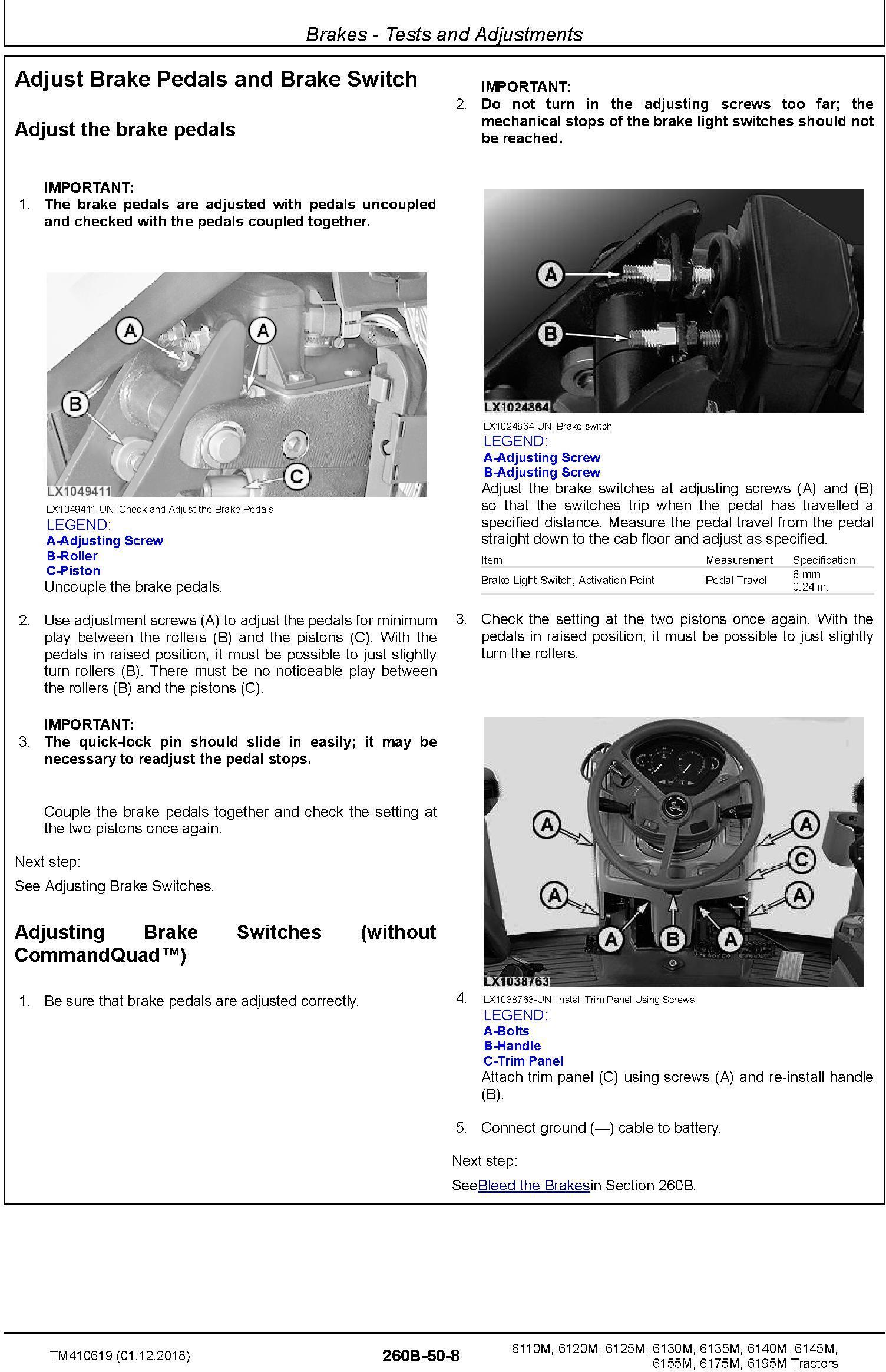 John Deere 6110M/20M 6130M/40M 6125M/35M 6145M/55M 6175M 6195M Tractors Diagnostic Manual (TM410619) - 3