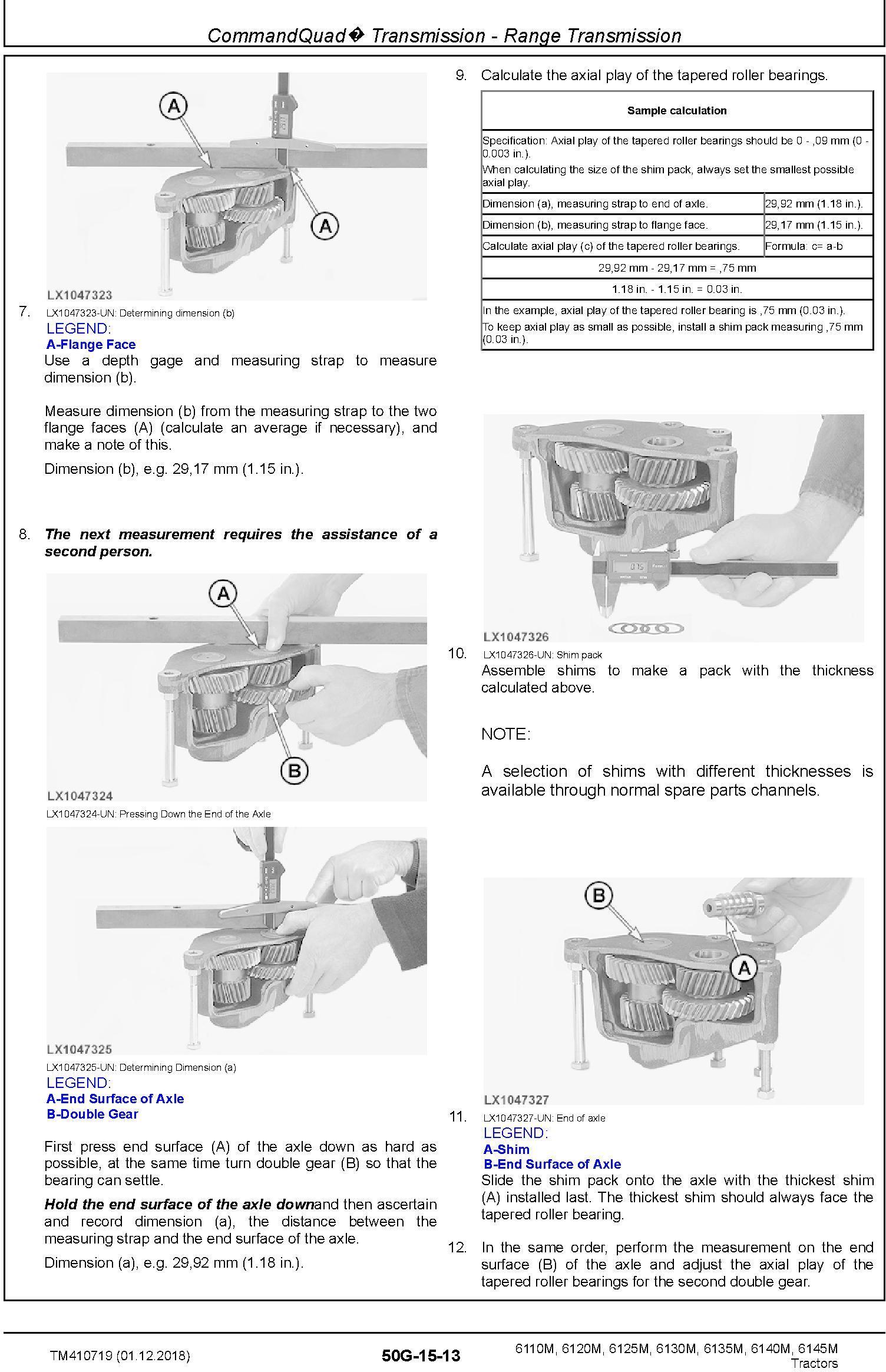 John Deere 6110M,6120M, 6125M, 6130M, 6135M, 6140M, 6145M Tractor Repair Technical Manual (TM410719) - 2