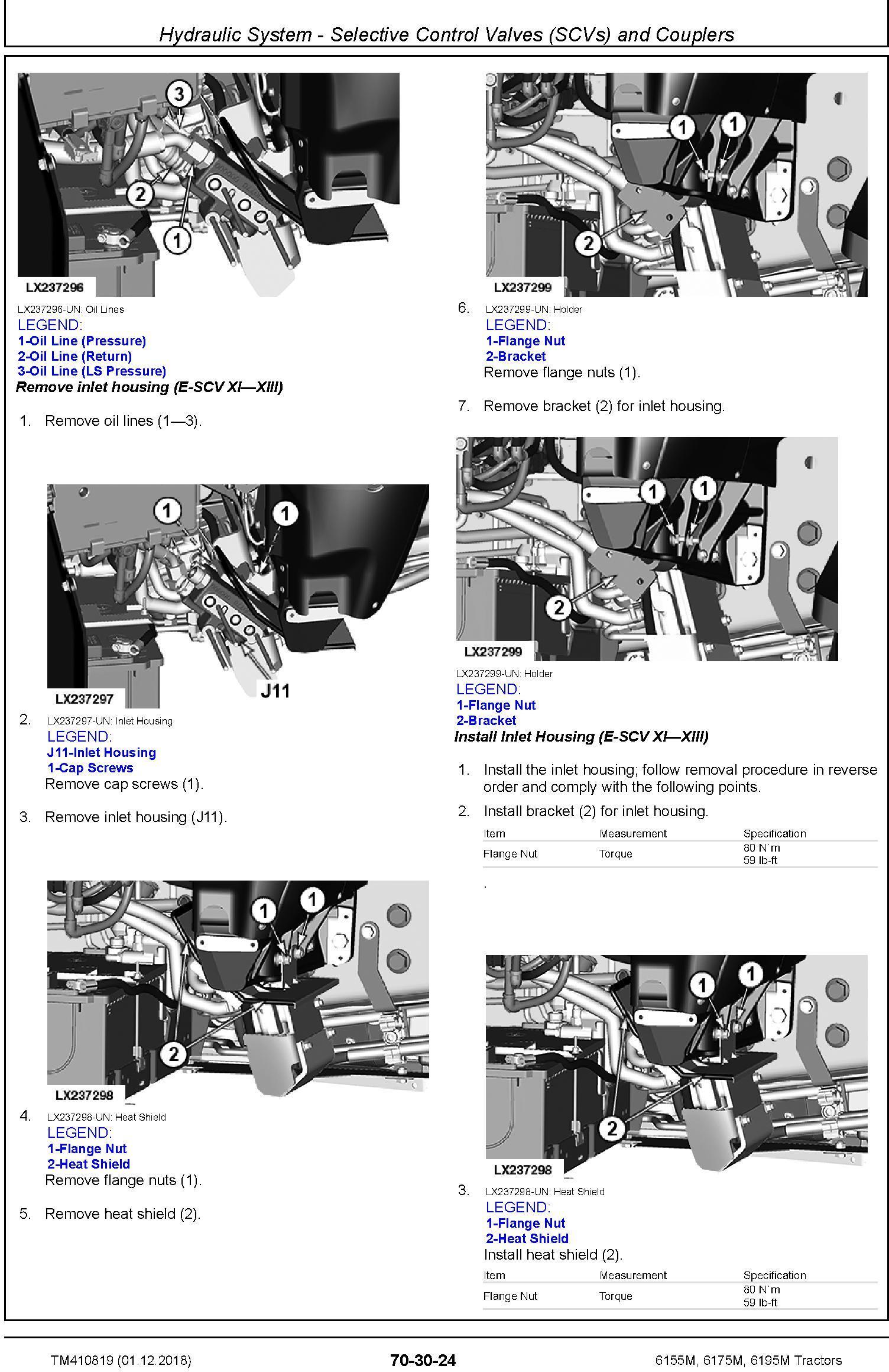 John Deere 6155M, 6175M, 6195M Tractors (MY18) Repair Technical Manual (TM410819) - 2